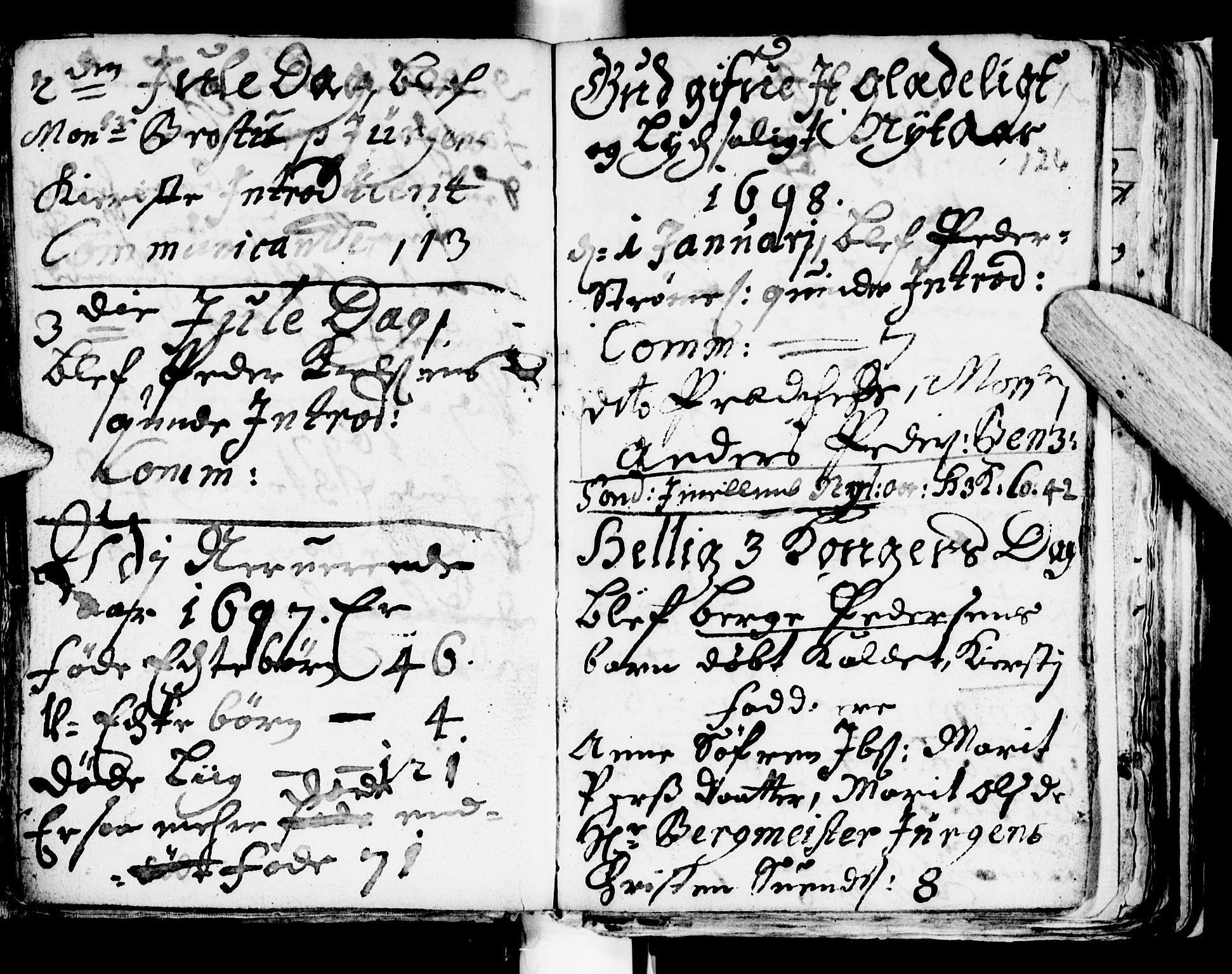 SAT, Ministerialprotokoller, klokkerbøker og fødselsregistre - Sør-Trøndelag, 681/L0923: Ministerialbok nr. 681A01, 1691-1700, s. 126