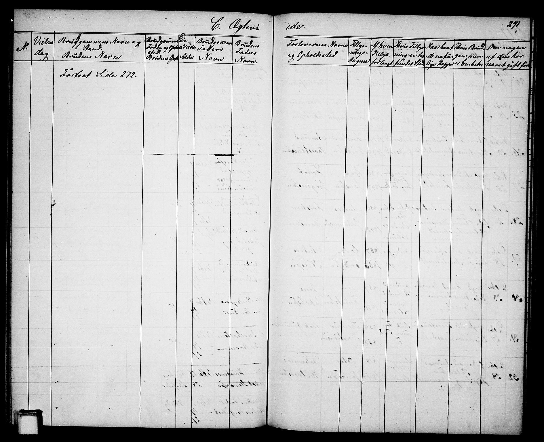 SAKO, Gjerpen kirkebøker, G/Ga/L0001: Klokkerbok nr. I 1, 1864-1882, s. 271
