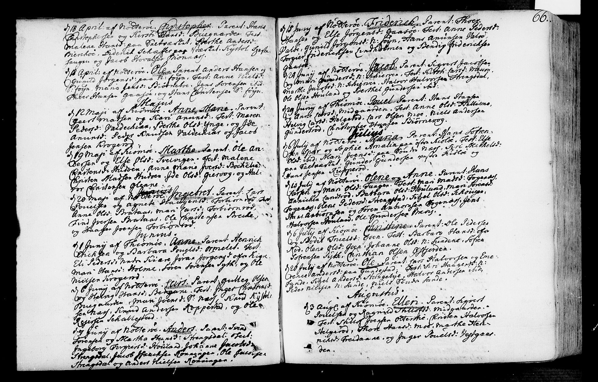 SAKO, Nøtterøy kirkebøker, F/Fa/L0002: Ministerialbok nr. I 2, 1738-1790, s. 66