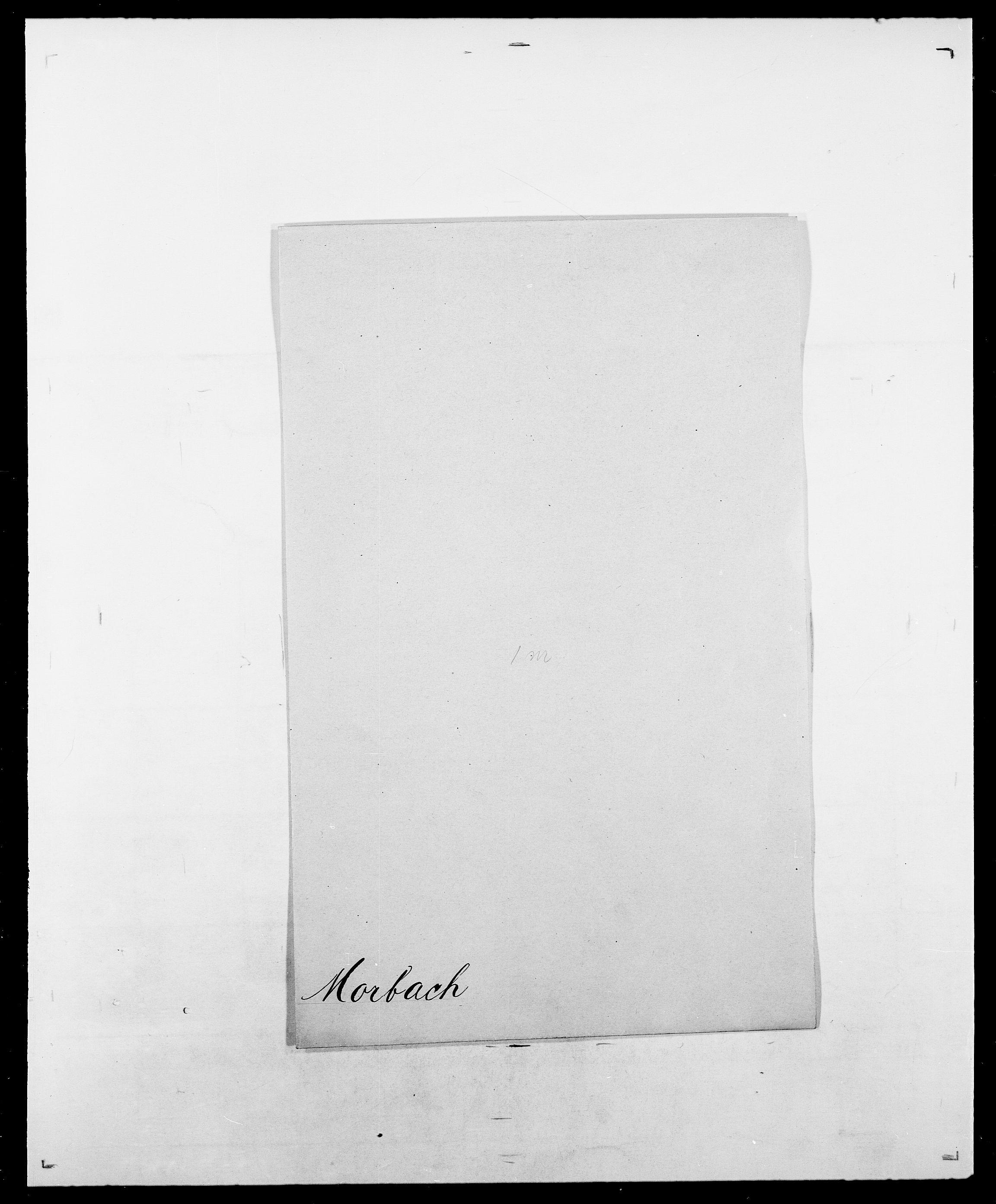 SAO, Delgobe, Charles Antoine - samling, D/Da/L0027: Morath - v. Møsting, s. 3