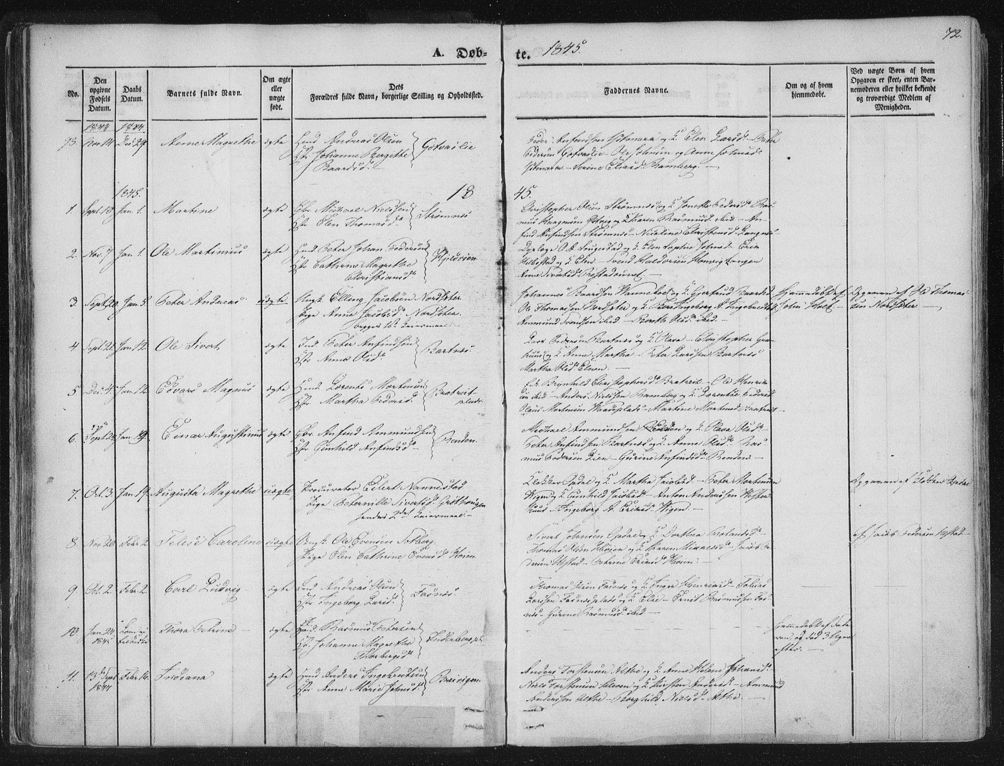 SAT, Ministerialprotokoller, klokkerbøker og fødselsregistre - Nord-Trøndelag, 741/L0392: Ministerialbok nr. 741A06, 1836-1848, s. 72
