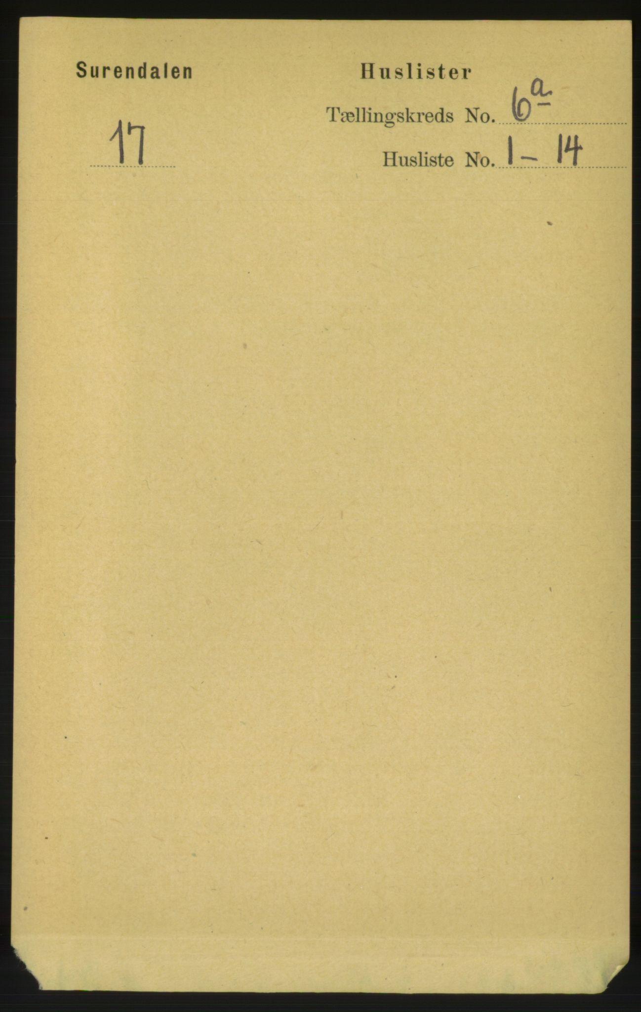 RA, Folketelling 1891 for 1566 Surnadal herred, 1891, s. 1654