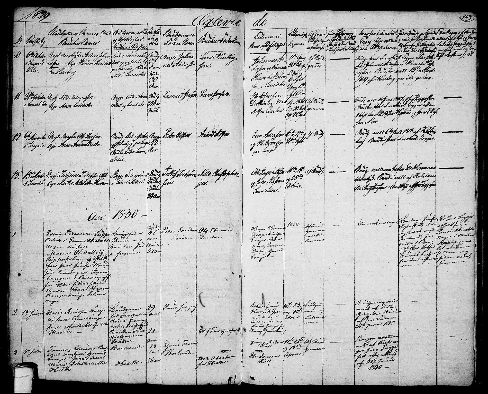 SAKO, Sannidal kirkebøker, F/Fa/L0005: Ministerialbok nr. 5, 1823-1830, s. 169