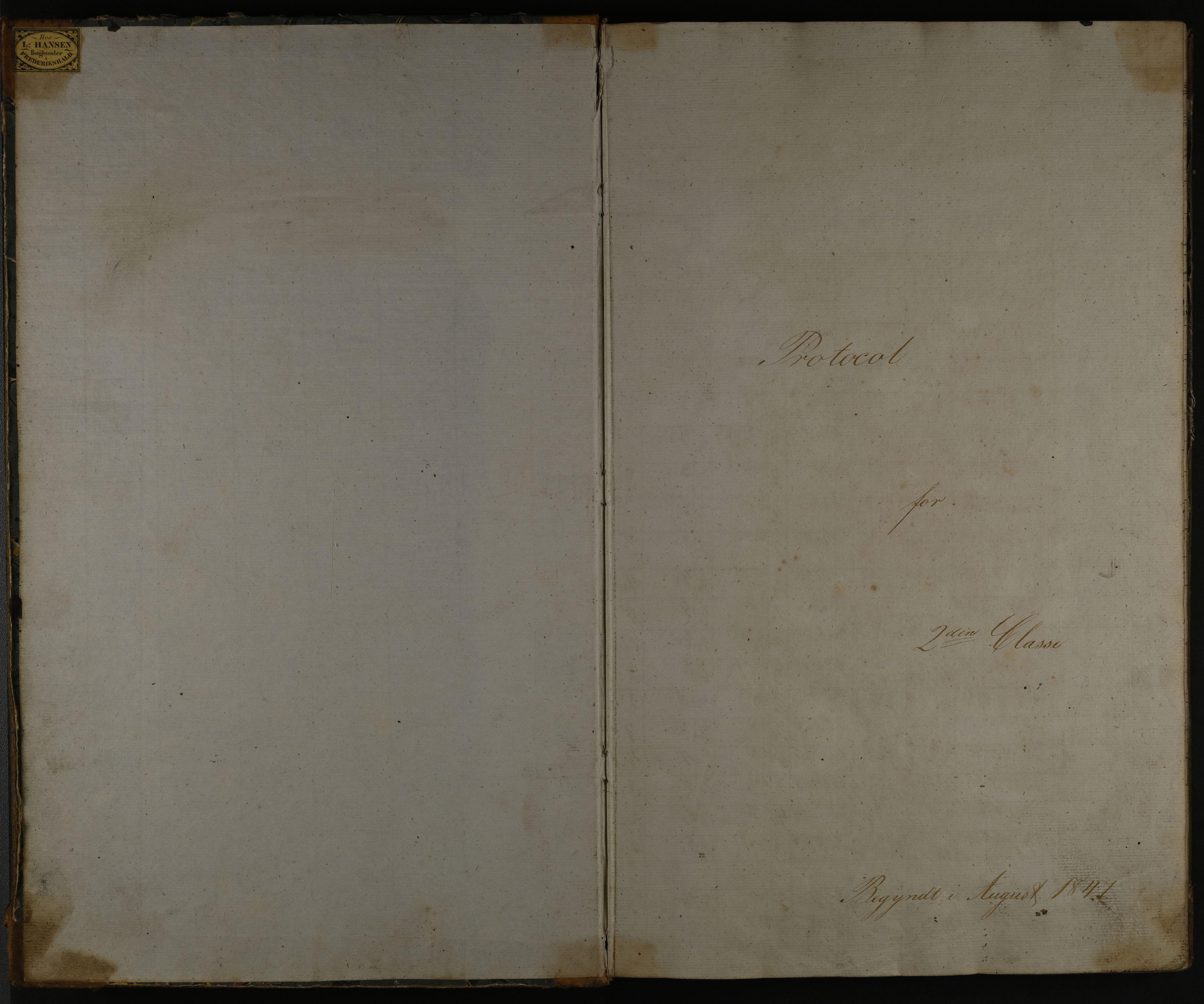 IKAO, Halden kommune. Fredrikshalds Borgerskole. Karakterprotokoll, 2. klasse, 1847-1851, 1847-1851