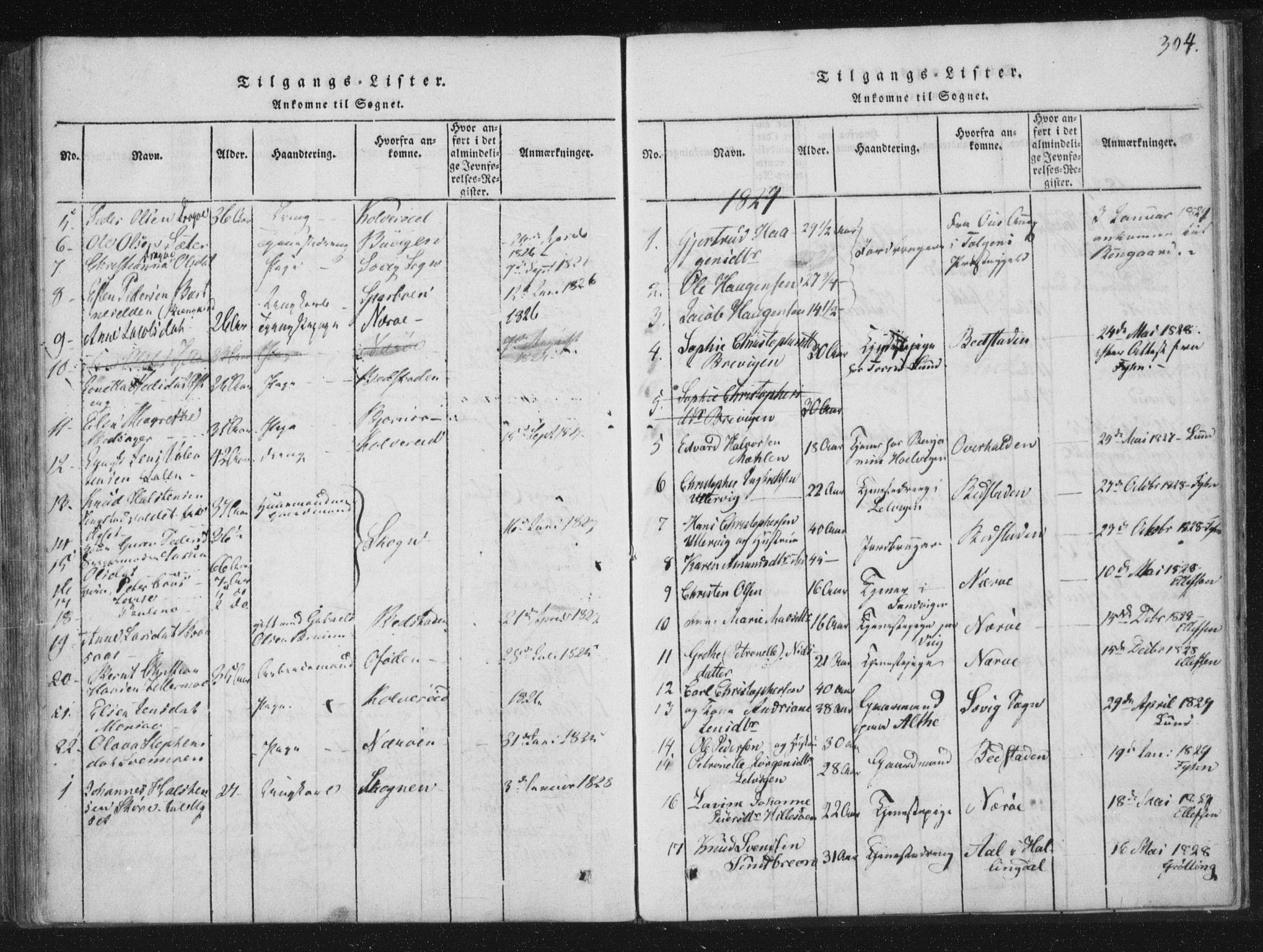 SAT, Ministerialprotokoller, klokkerbøker og fødselsregistre - Nord-Trøndelag, 773/L0609: Ministerialbok nr. 773A03 /1, 1815-1830, s. 304