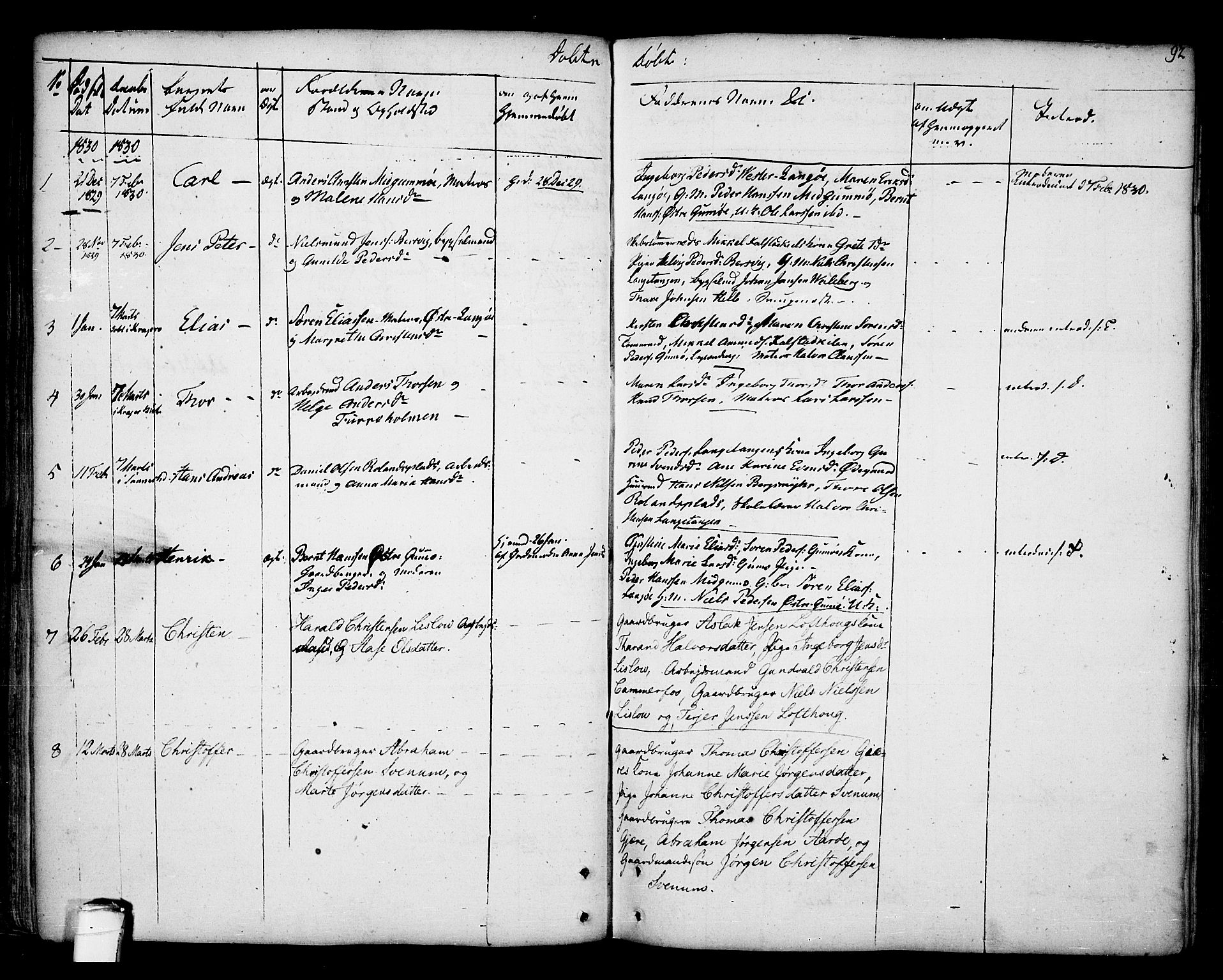 SAKO, Kragerø kirkebøker, F/Fa/L0002: Ministerialbok nr. 2, 1767-1802, s. 92