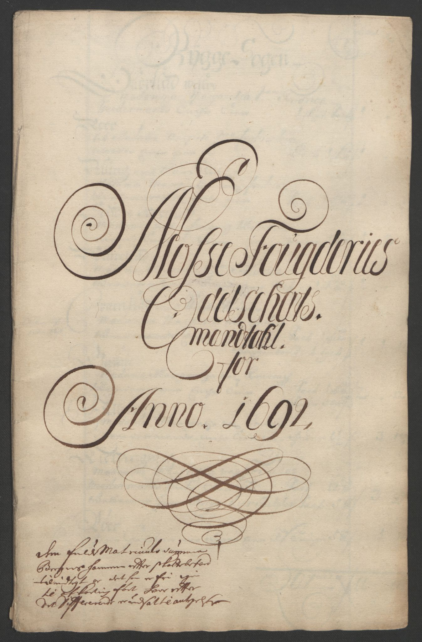 RA, Rentekammeret inntil 1814, Reviderte regnskaper, Fogderegnskap, R02/L0108: Fogderegnskap Moss og Verne kloster, 1692-1693, s. 105