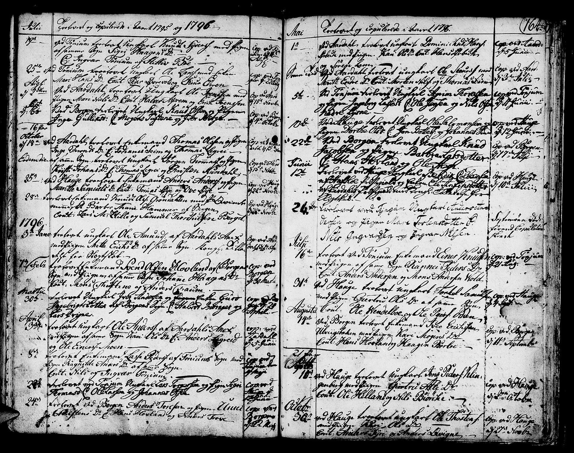 SAB, Lærdal sokneprestembete, Ministerialbok nr. A 3, 1783-1804, s. 164