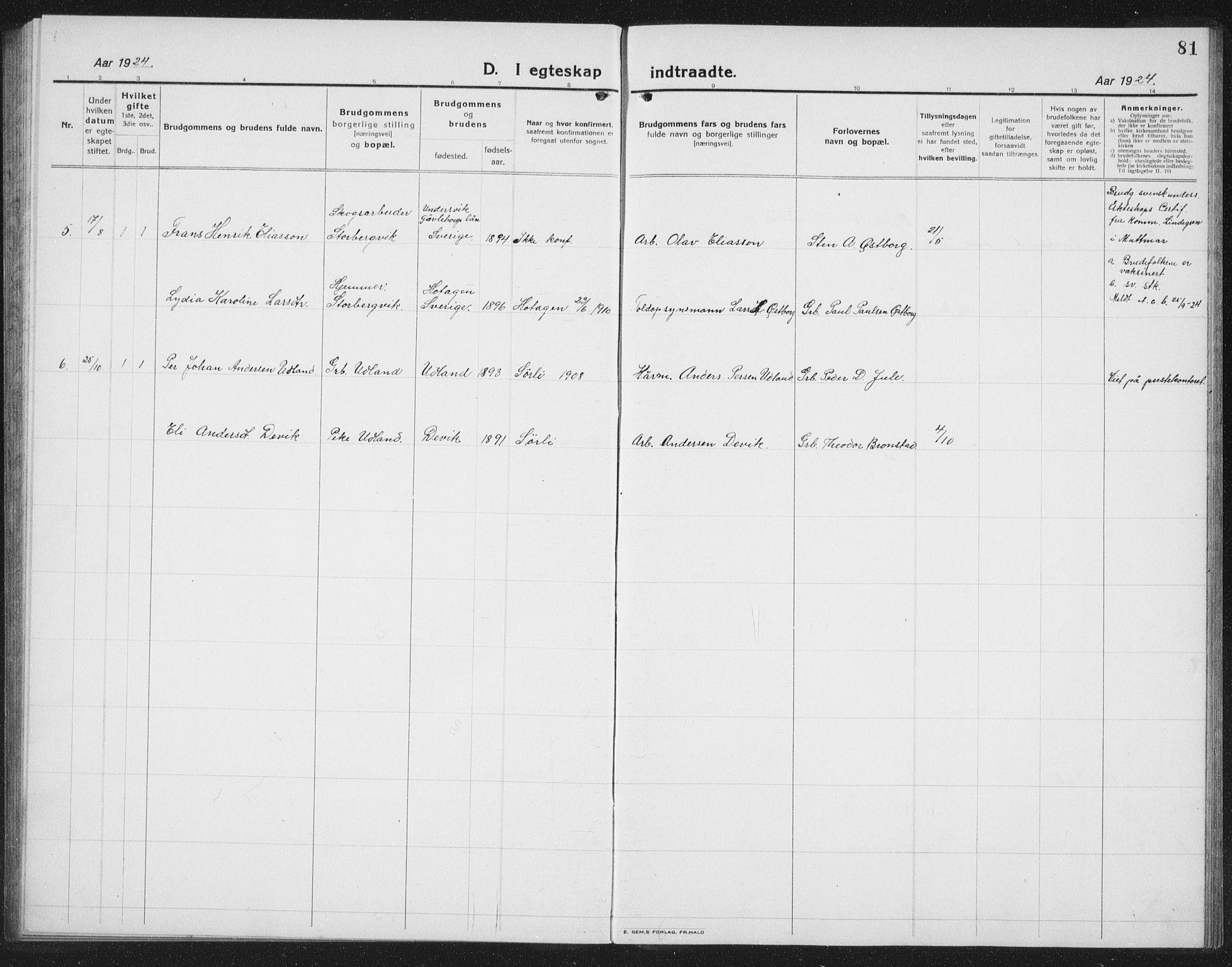 SAT, Ministerialprotokoller, klokkerbøker og fødselsregistre - Nord-Trøndelag, 757/L0507: Klokkerbok nr. 757C02, 1923-1939, s. 81