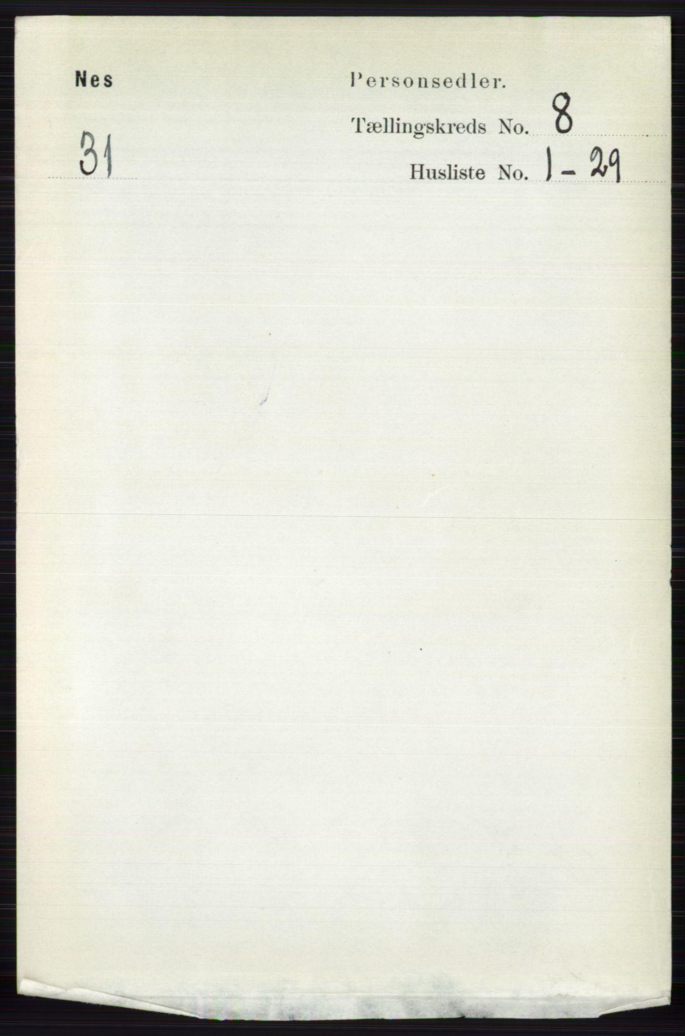 RA, Folketelling 1891 for 0616 Nes herred, 1891, s. 4078