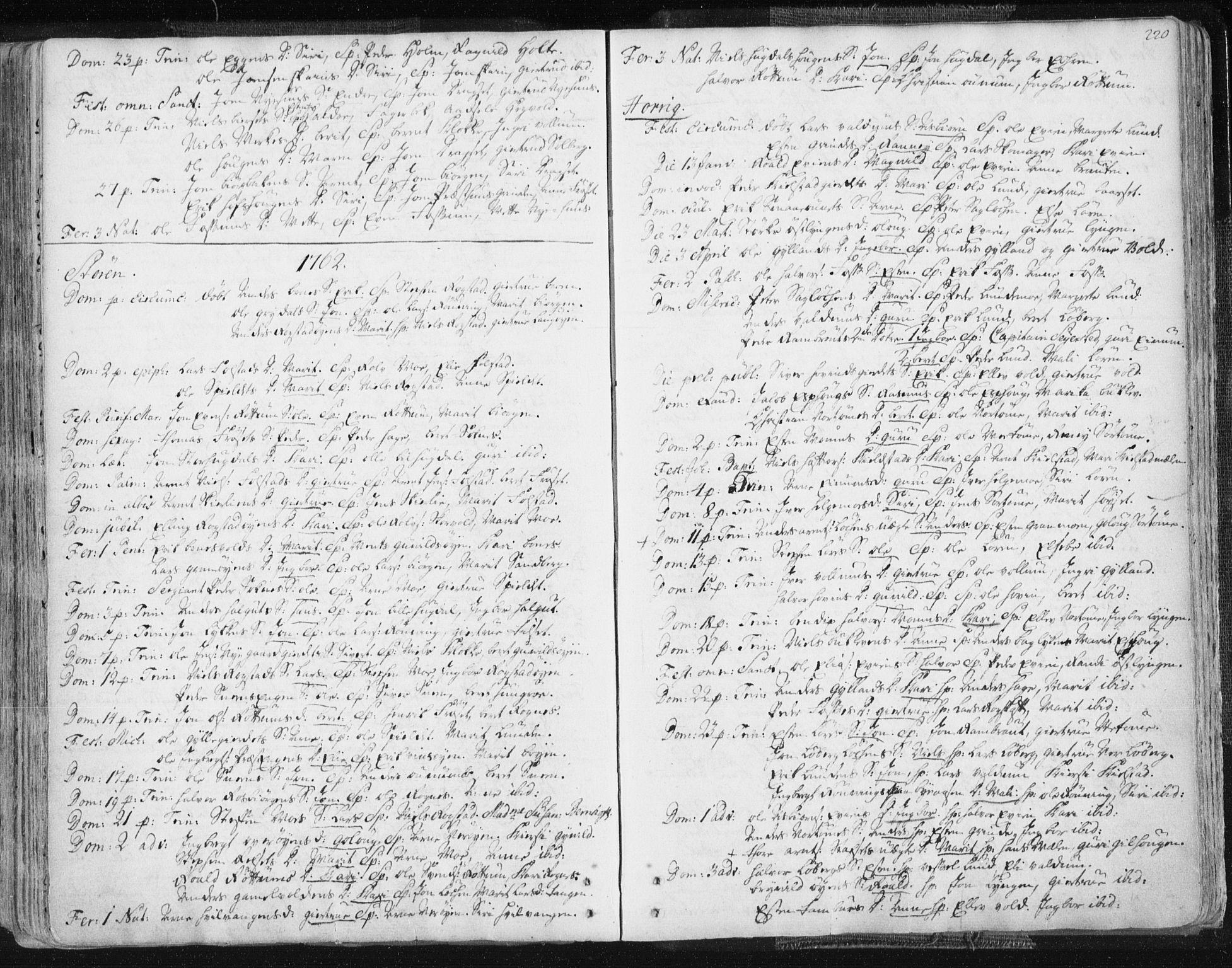SAT, Ministerialprotokoller, klokkerbøker og fødselsregistre - Sør-Trøndelag, 687/L0991: Ministerialbok nr. 687A02, 1747-1790, s. 220