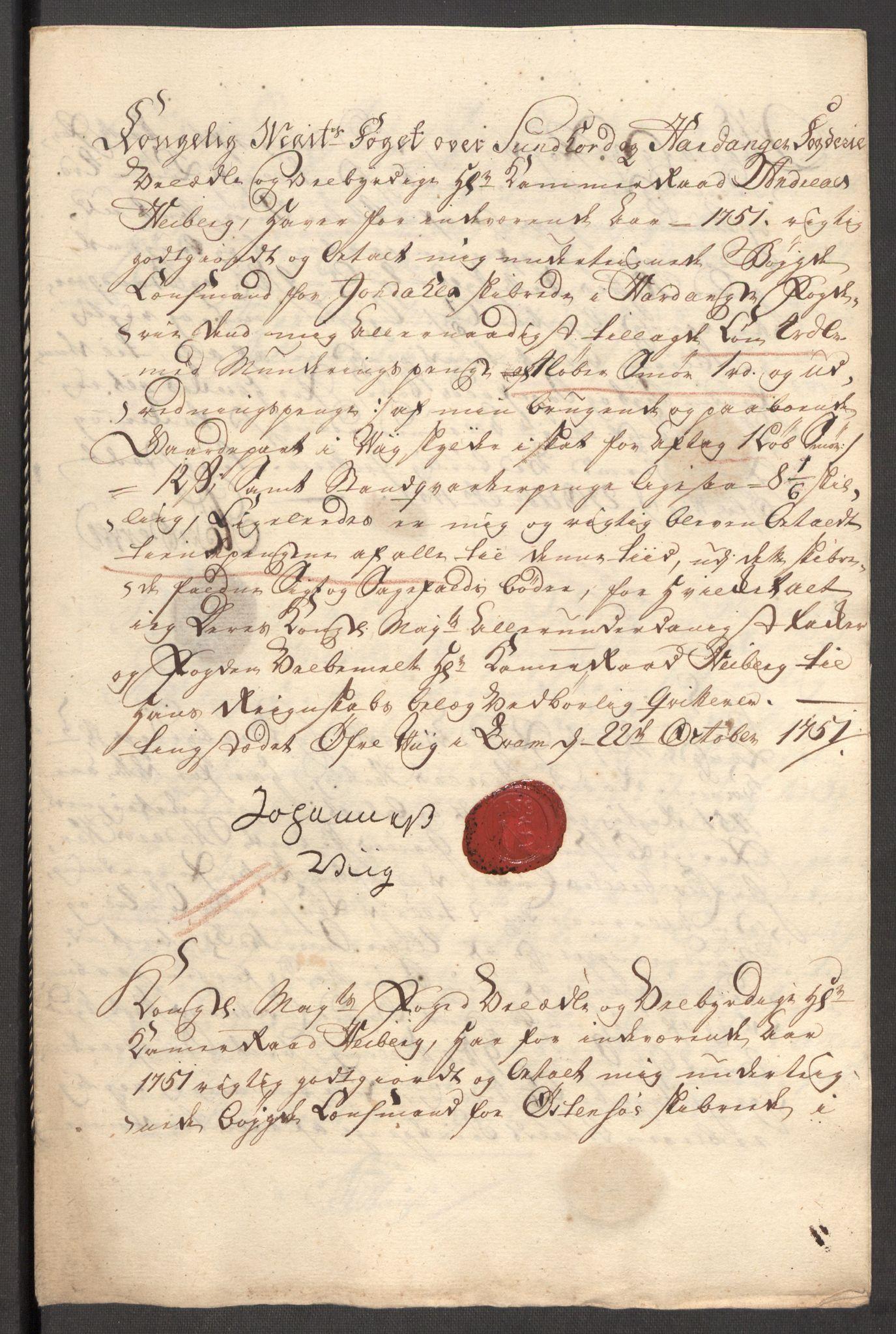 RA, Rentekammeret inntil 1814, Reviderte regnskaper, Fogderegnskap, R48/L3056: Fogderegnskap Sunnhordland og Hardanger, 1751, s. 496