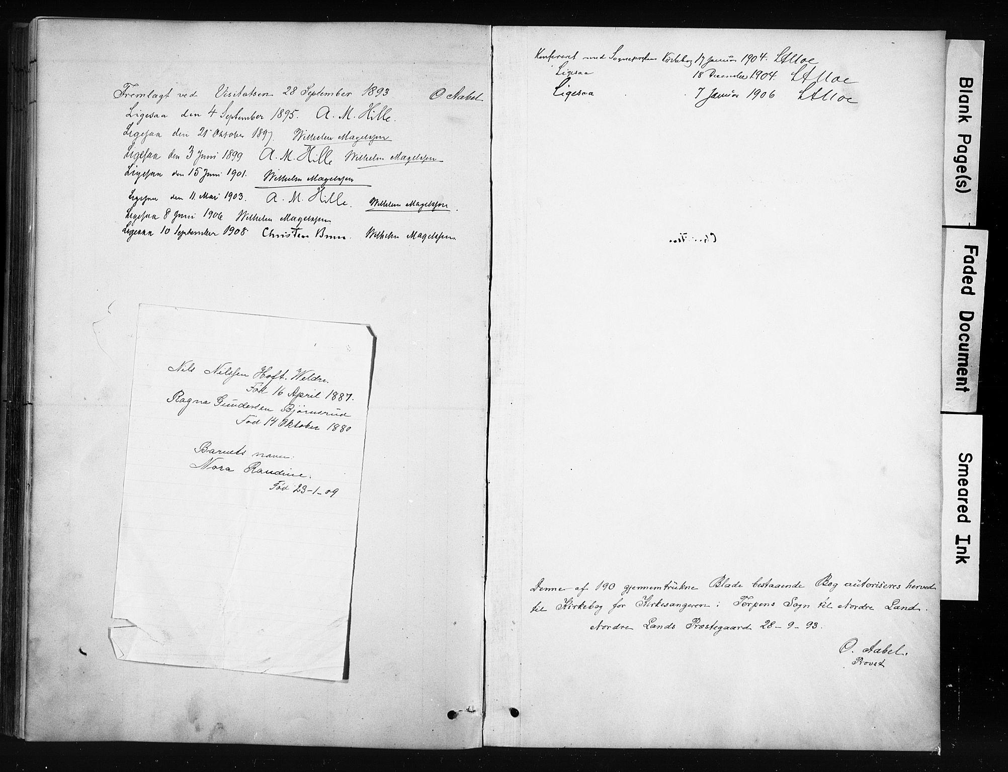 SAH, Nordre Land prestekontor, Klokkerbok nr. 12, 1891-1909, s. 185