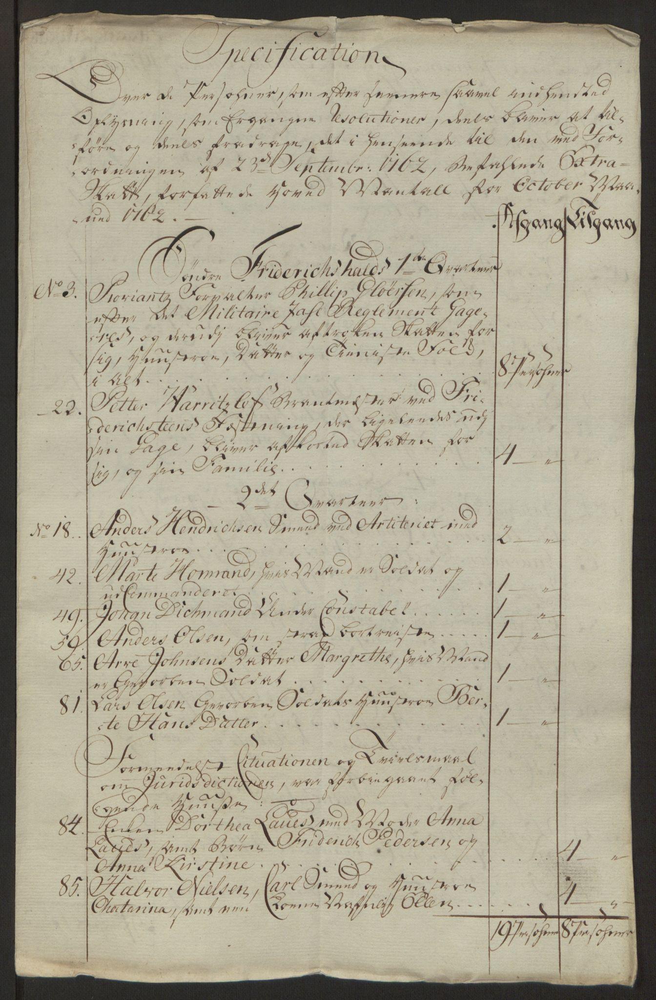 RA, Rentekammeret inntil 1814, Reviderte regnskaper, Byregnskaper, R/Ra/L0006: [A4] Kontribusjonsregnskap, 1762-1772, s. 51