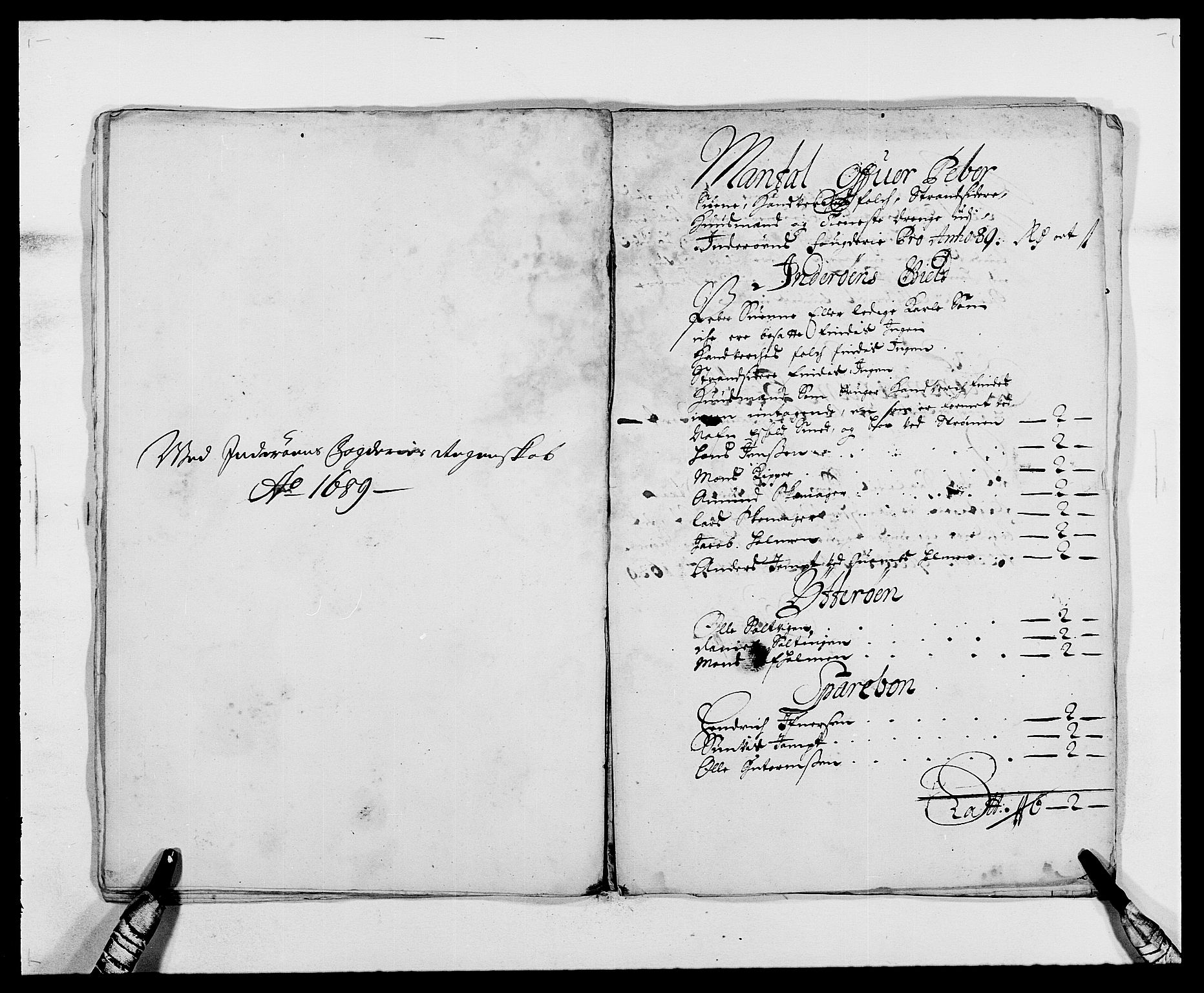 RA, Rentekammeret inntil 1814, Reviderte regnskaper, Fogderegnskap, R63/L4306: Fogderegnskap Inderøy, 1687-1689, s. 404