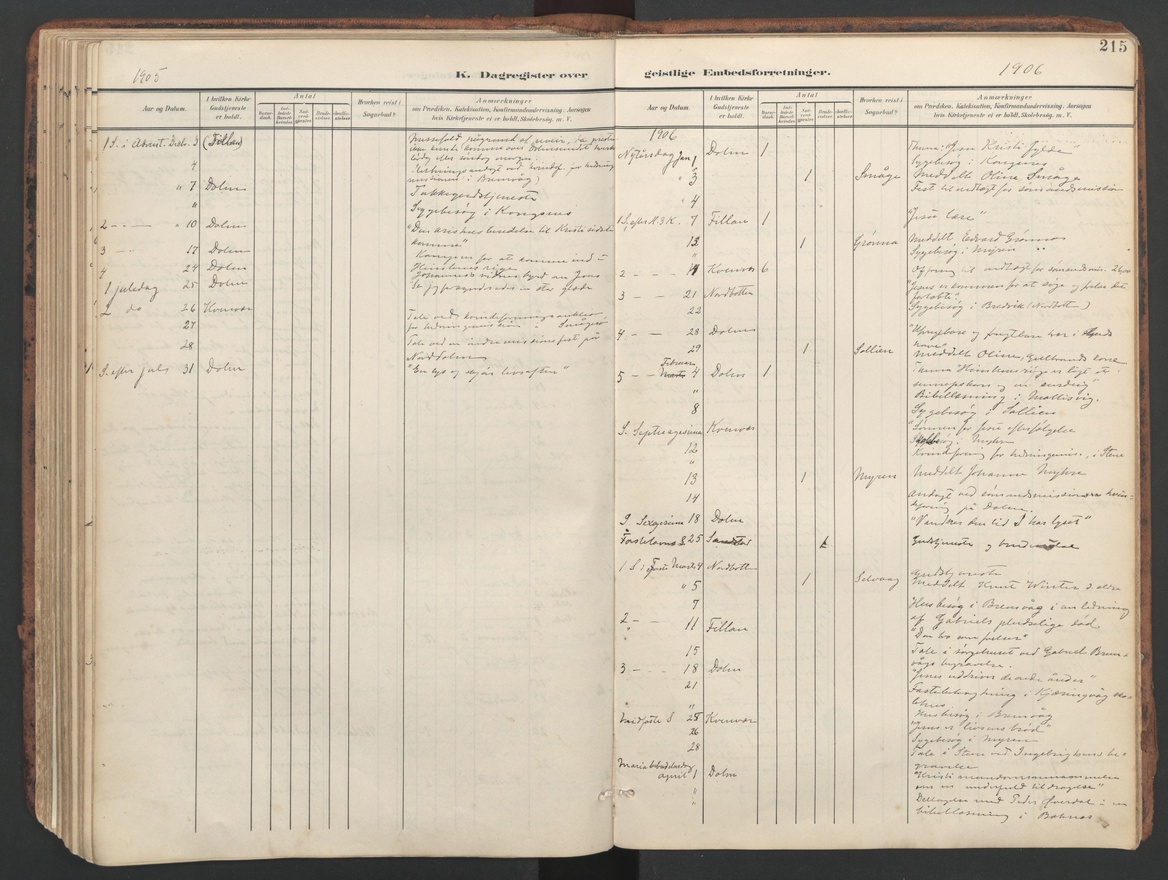 SAT, Ministerialprotokoller, klokkerbøker og fødselsregistre - Sør-Trøndelag, 634/L0537: Ministerialbok nr. 634A13, 1896-1922, s. 215