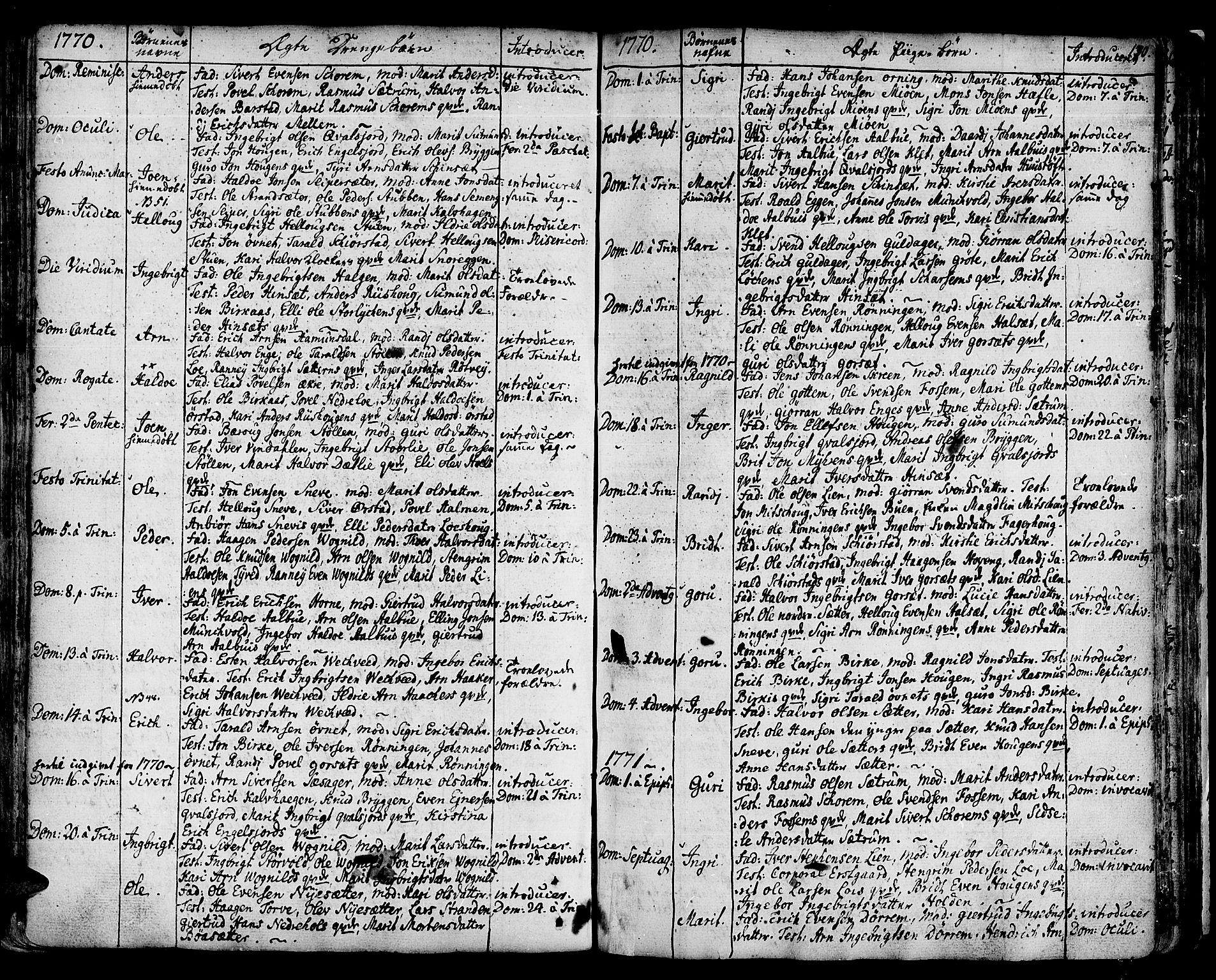 SAT, Ministerialprotokoller, klokkerbøker og fødselsregistre - Sør-Trøndelag, 678/L0891: Ministerialbok nr. 678A01, 1739-1780, s. 130