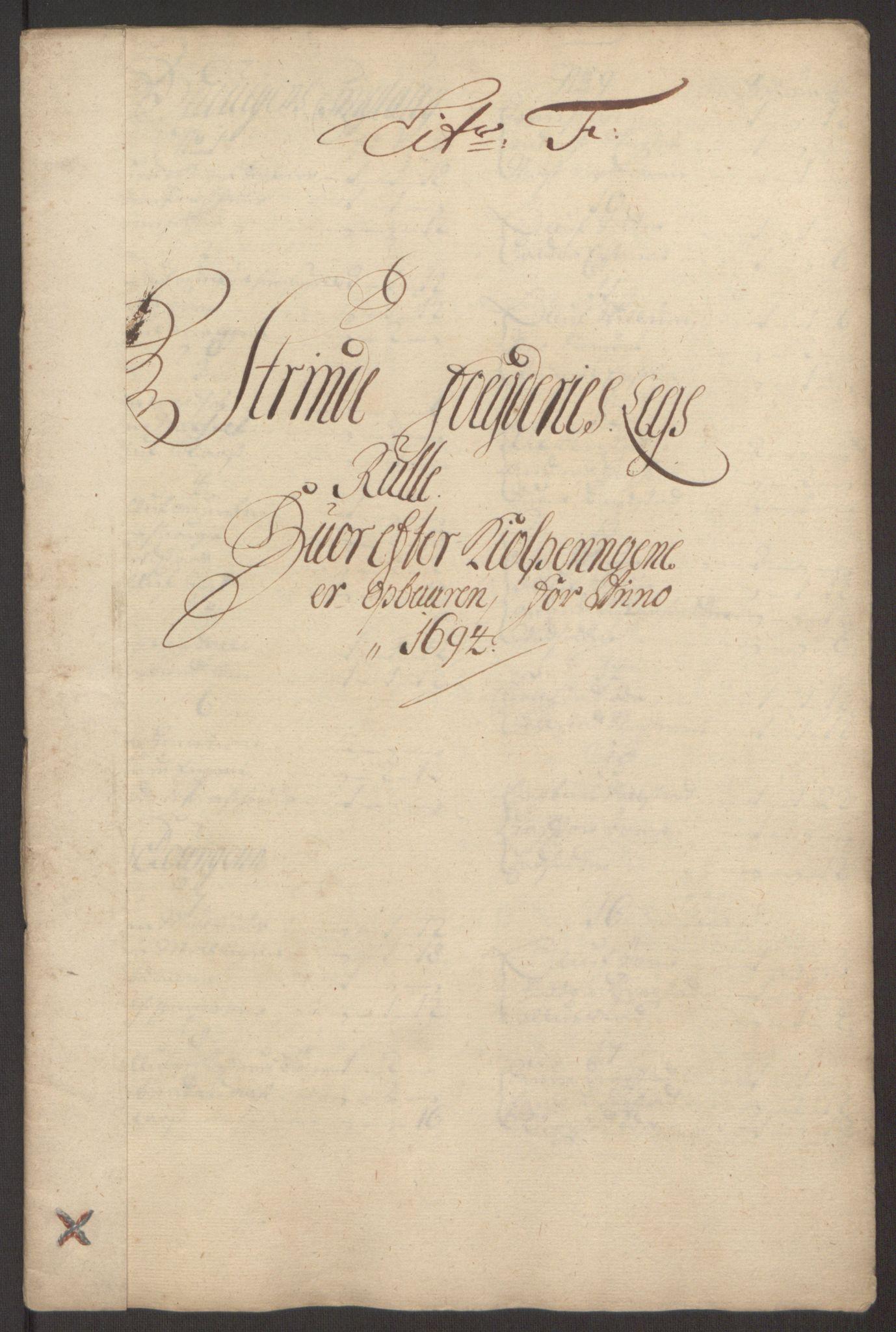 RA, Rentekammeret inntil 1814, Reviderte regnskaper, Fogderegnskap, R61/L4104: Fogderegnskap Strinda og Selbu, 1693-1694, s. 230