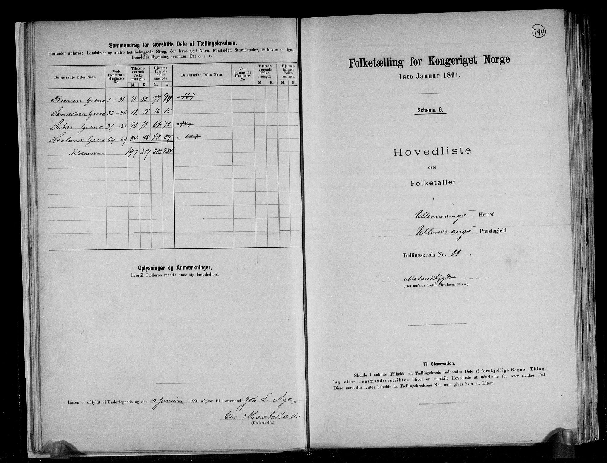 RA, Folketelling 1891 for 1230 Ullensvang herred, 1891, s. 31