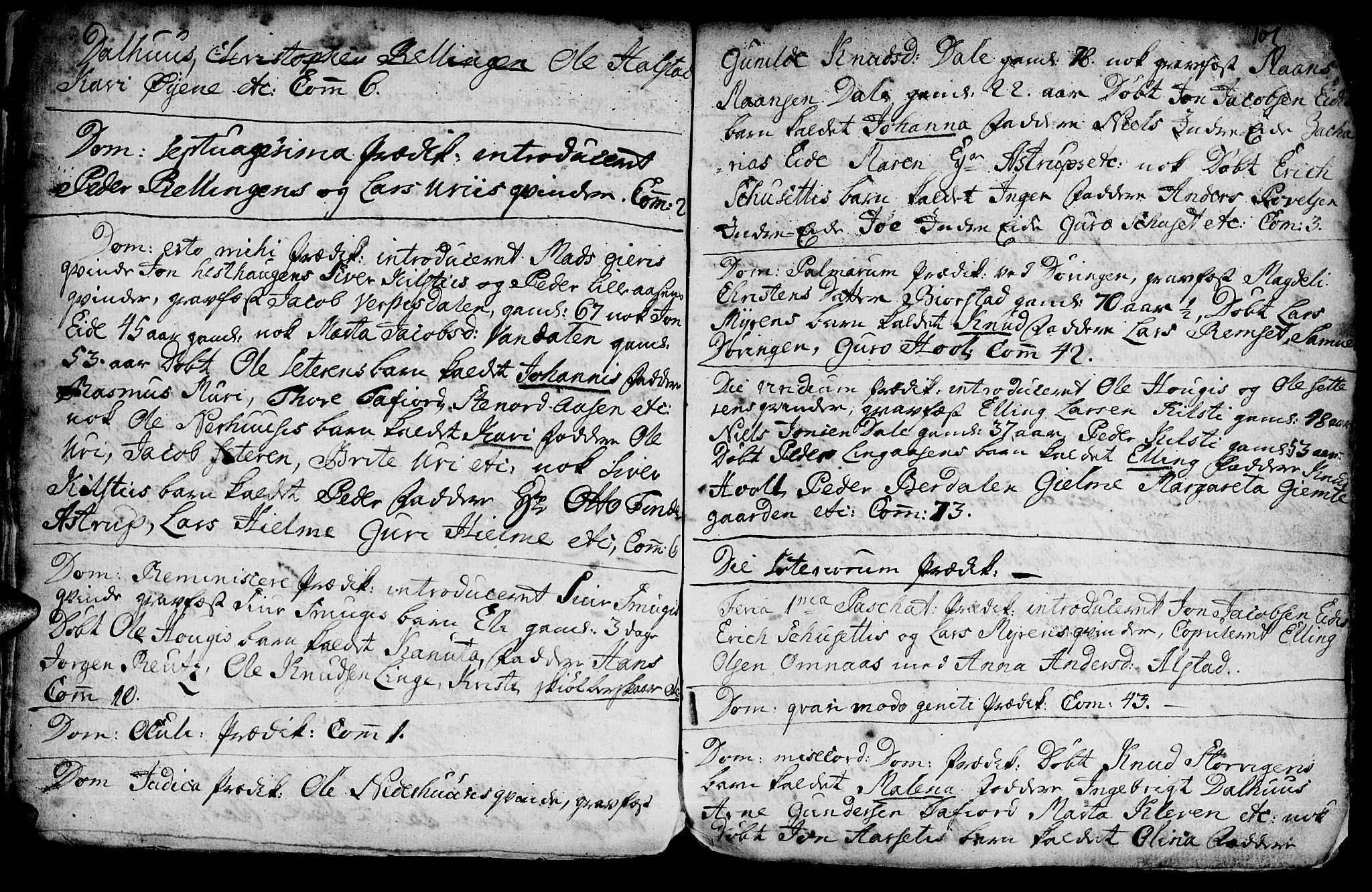 SAT, Ministerialprotokoller, klokkerbøker og fødselsregistre - Møre og Romsdal, 519/L0240: Ministerialbok nr. 519A01 /1, 1736-1760, s. 101