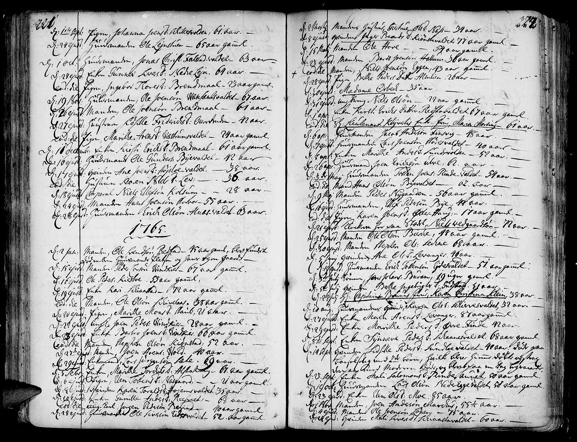 SAT, Ministerialprotokoller, klokkerbøker og fødselsregistre - Nord-Trøndelag, 717/L0141: Ministerialbok nr. 717A01, 1747-1803, s. 221-222