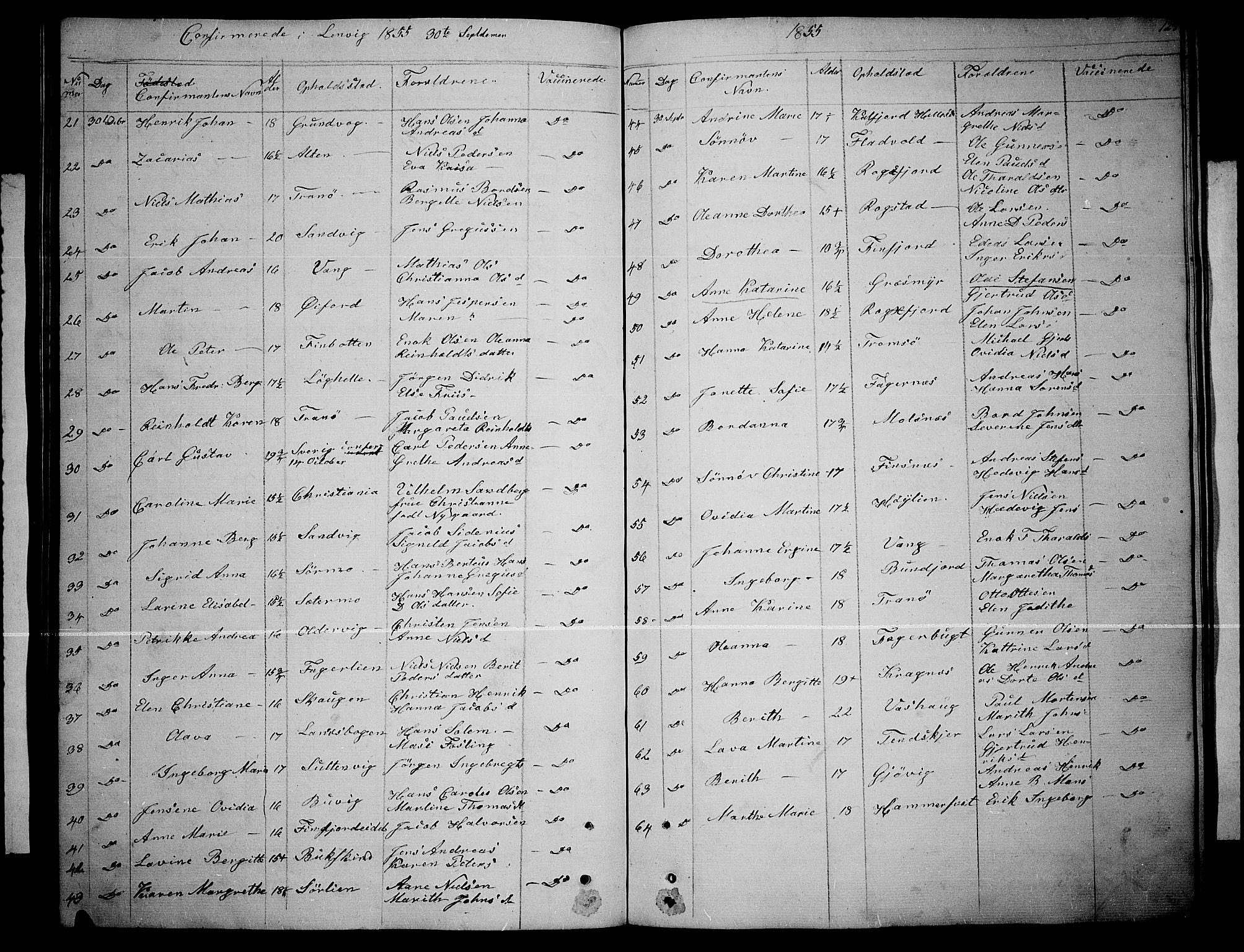 SATØ, Lenvik sokneprestembete, H/Ha: Klokkerbok nr. 3, 1844-1858, s. 123