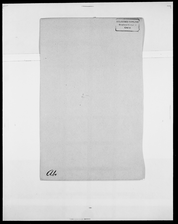 SAO, Delgobe, Charles Antoine - samling, D/Da/L0001: Aabye - Angerman, s. 229