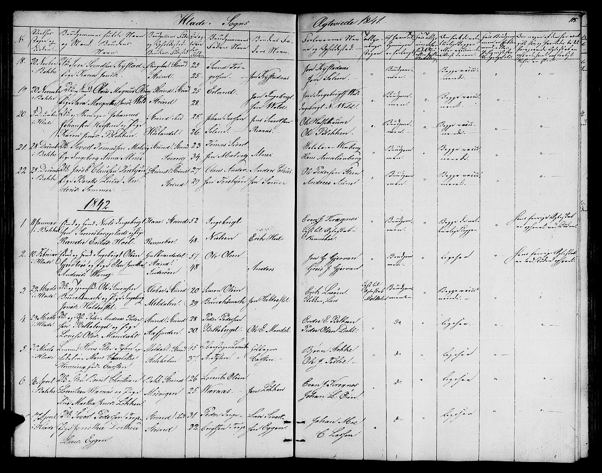 SAT, Ministerialprotokoller, klokkerbøker og fødselsregistre - Sør-Trøndelag, 606/L0309: Klokkerbok nr. 606C05, 1841-1849, s. 115