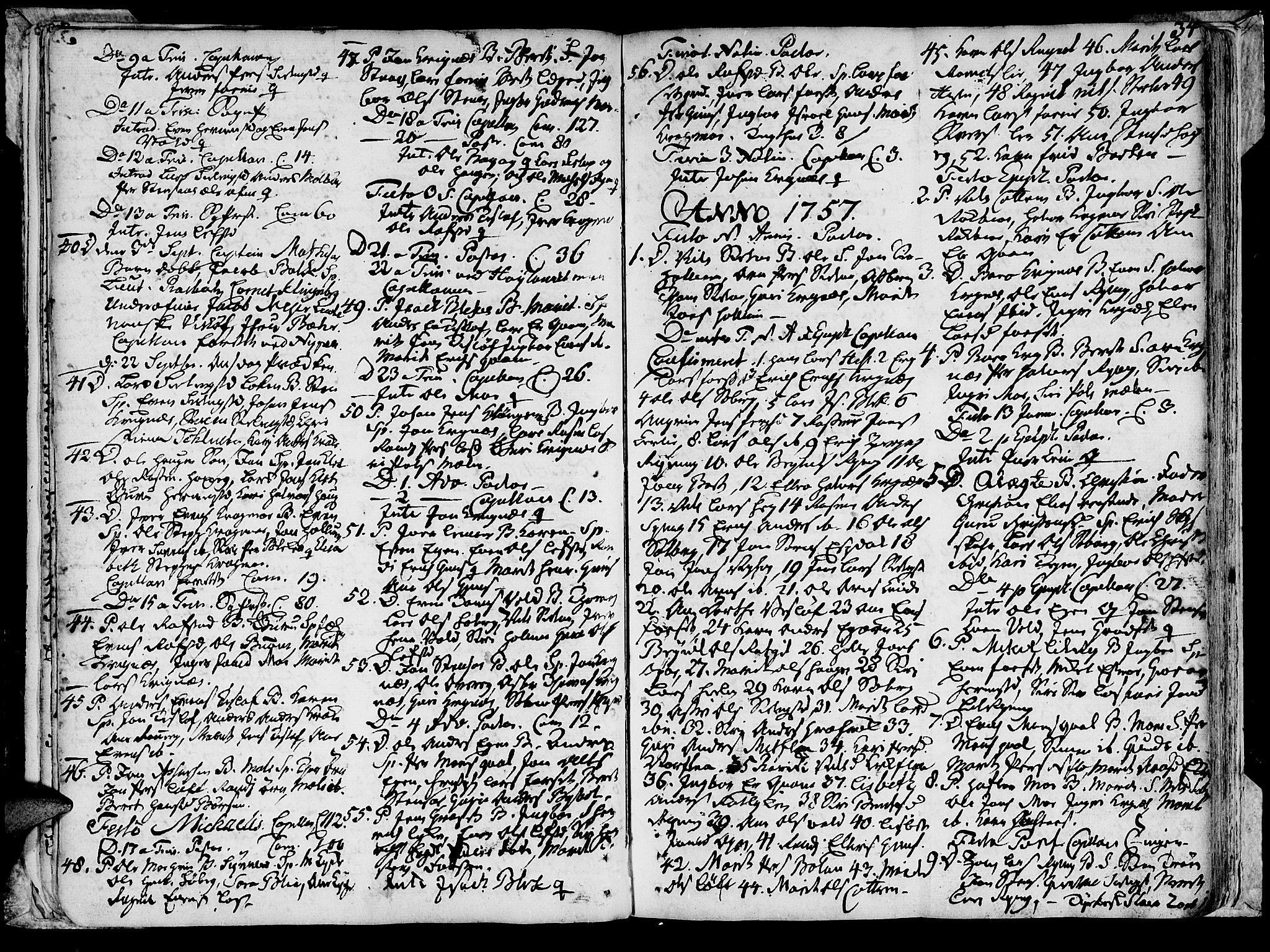 SAT, Ministerialprotokoller, klokkerbøker og fødselsregistre - Sør-Trøndelag, 691/L1057: Ministerialbok nr. 691A01 /1, 1740-1767, s. 34