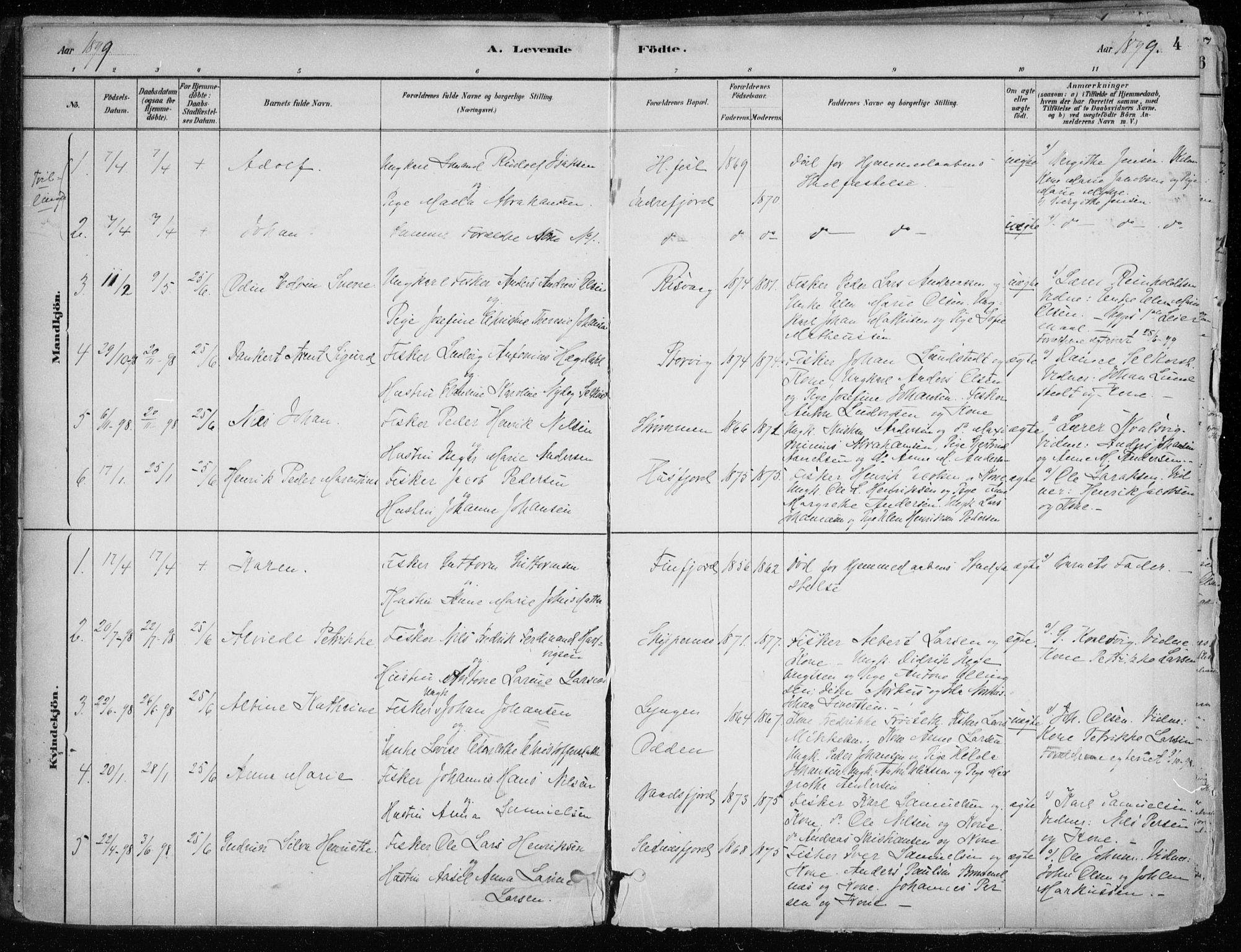 SATØ, Hammerfest sokneprestkontor, H/Ha/L0013.kirke: Ministerialbok nr. 13, 1898-1917, s. 4