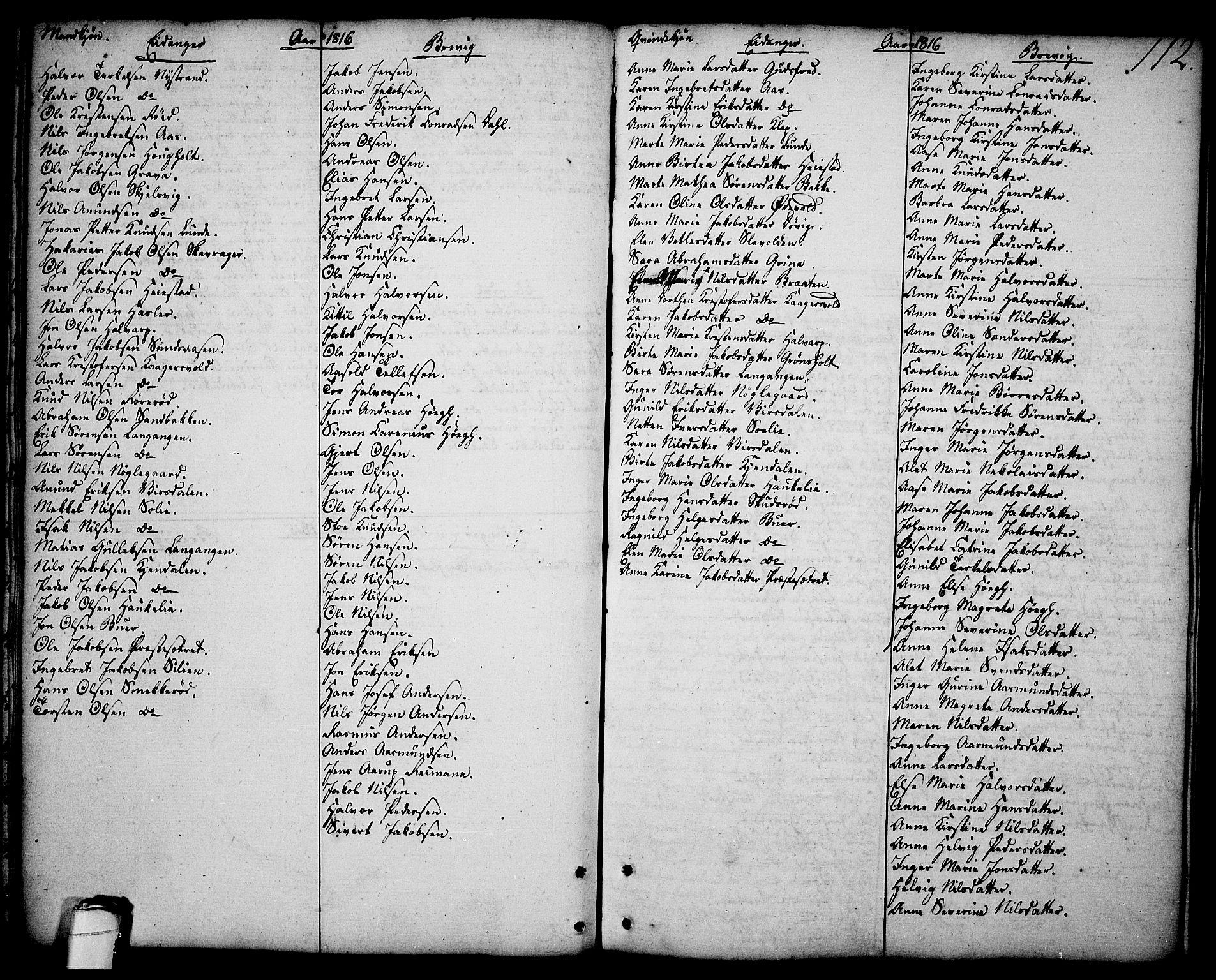 SAKO, Brevik kirkebøker, F/Fa/L0003: Ministerialbok nr. 3, 1764-1814, s. 112