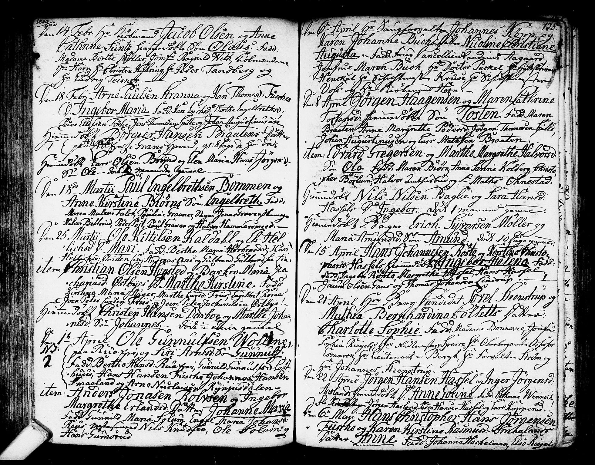 SAKO, Kongsberg kirkebøker, F/Fa/L0007: Ministerialbok nr. I 7, 1795-1816, s. 125