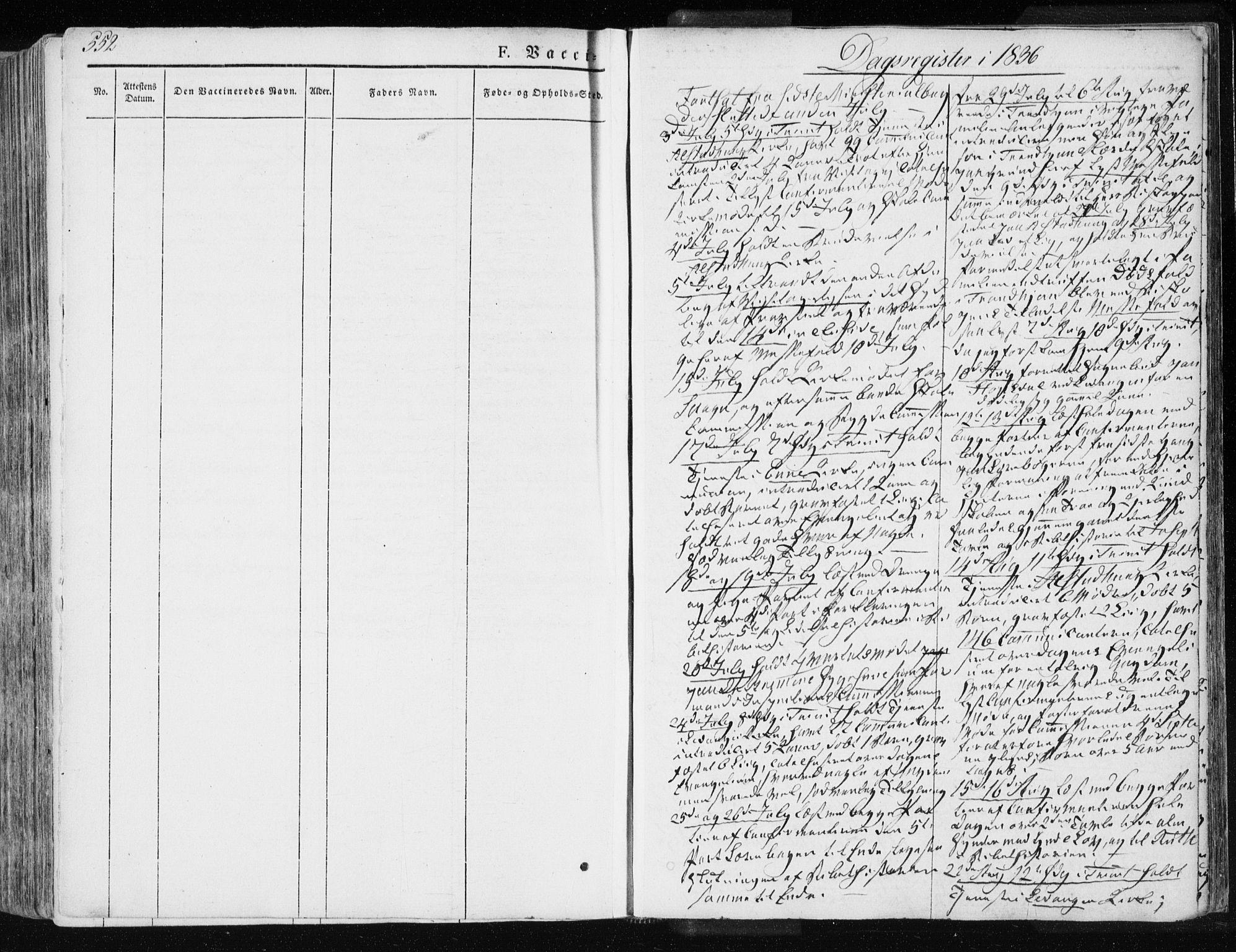 SAT, Ministerialprotokoller, klokkerbøker og fødselsregistre - Nord-Trøndelag, 717/L0154: Ministerialbok nr. 717A06 /1, 1836-1849, s. 552