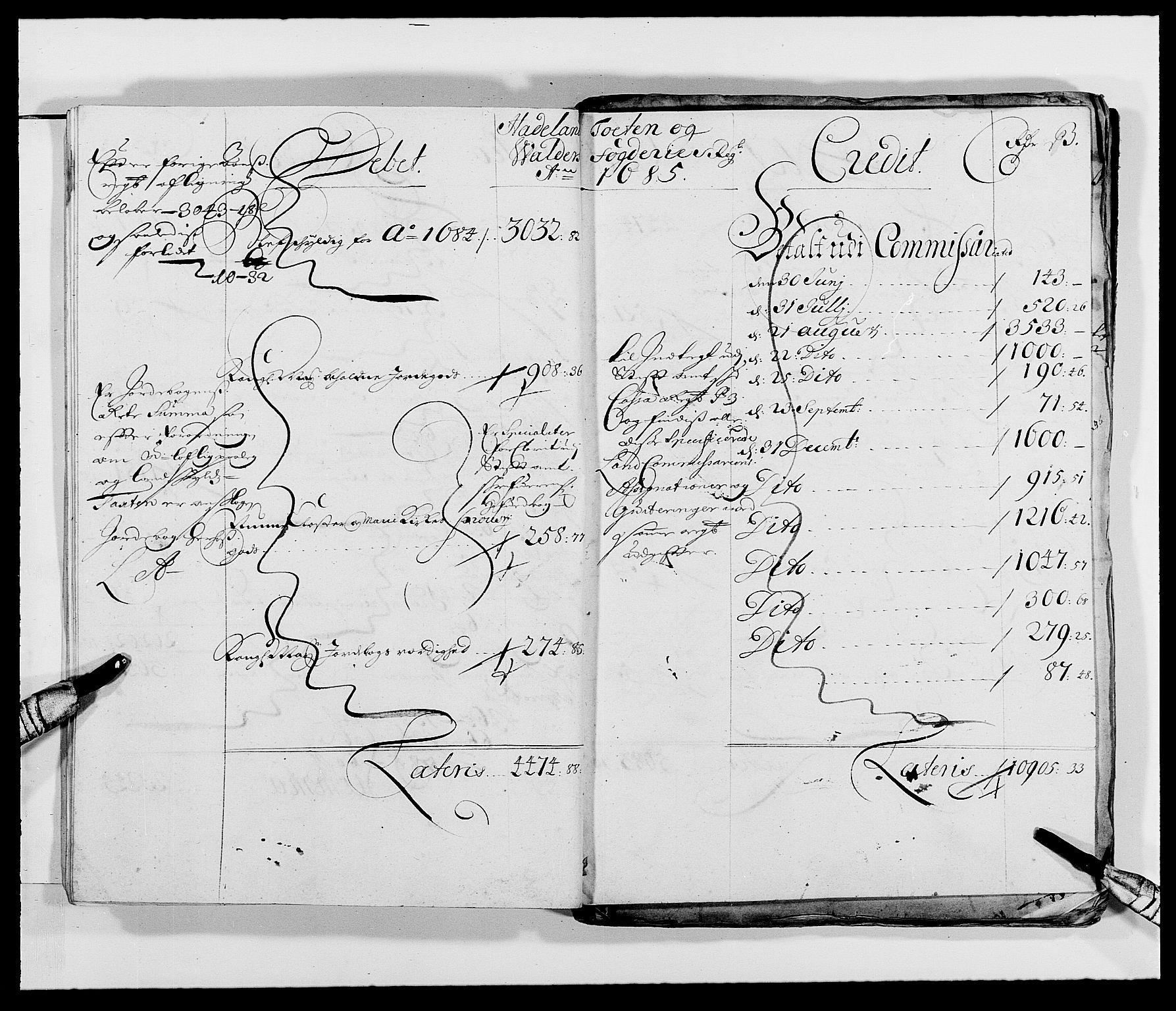 RA, Rentekammeret inntil 1814, Reviderte regnskaper, Fogderegnskap, R18/L1287: Fogderegnskap Hadeland, Toten og Valdres, 1688, s. 53