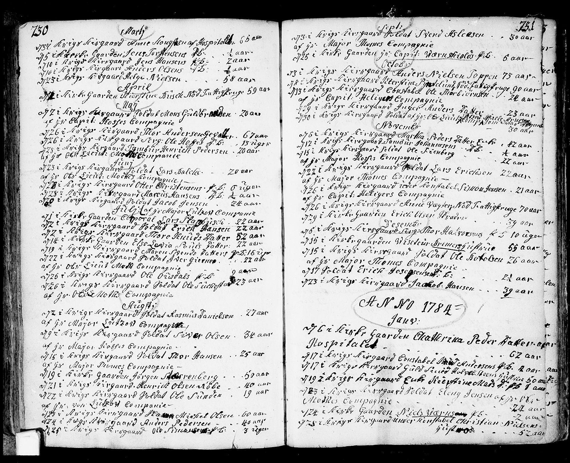 SAO, Fredrikstad prestekontor Kirkebøker, F/Fa/L0002: Ministerialbok nr. 2, 1750-1804, s. 730-731