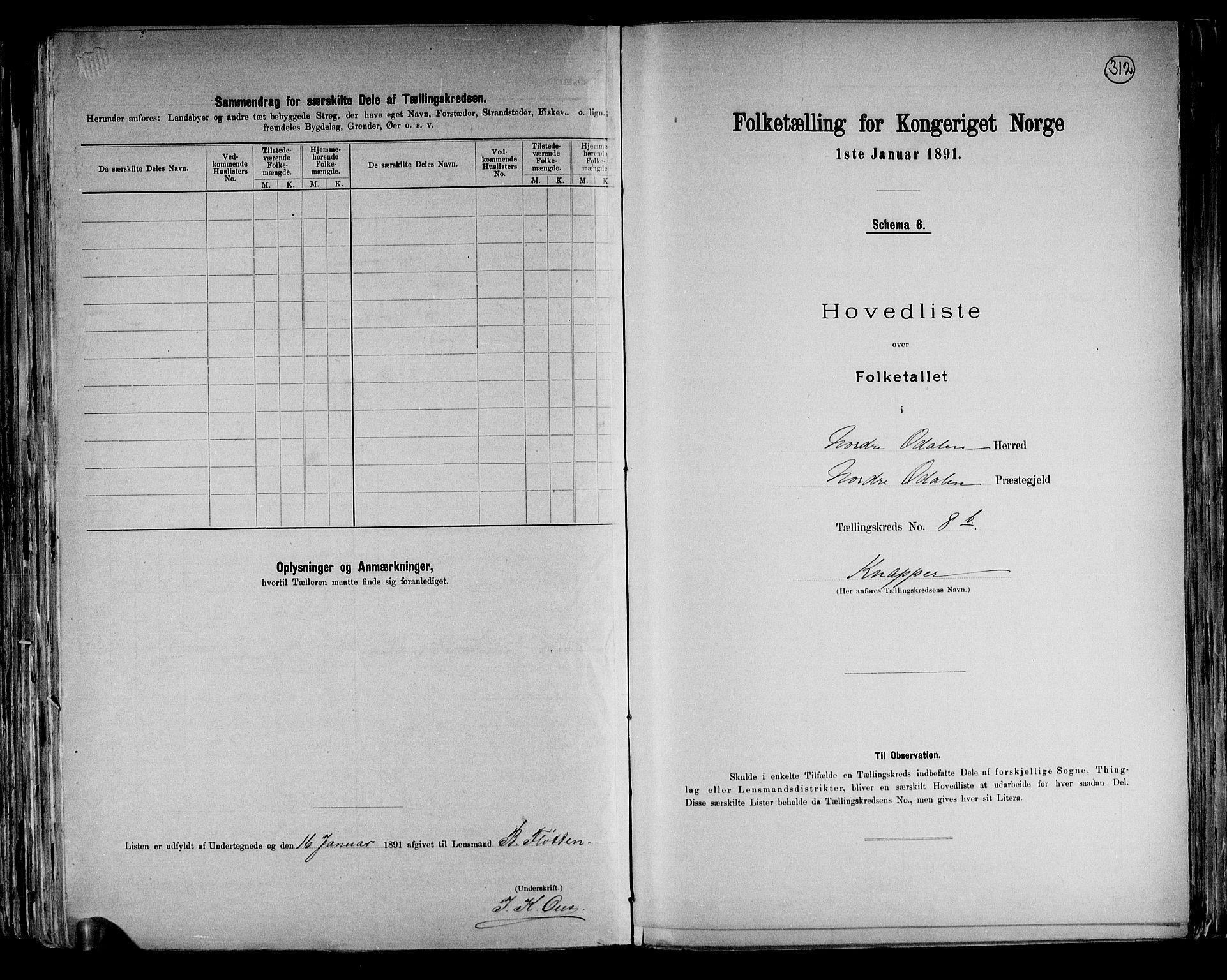 RA, Folketelling 1891 for 0418 Nord-Odal herred, 1891, s. 25