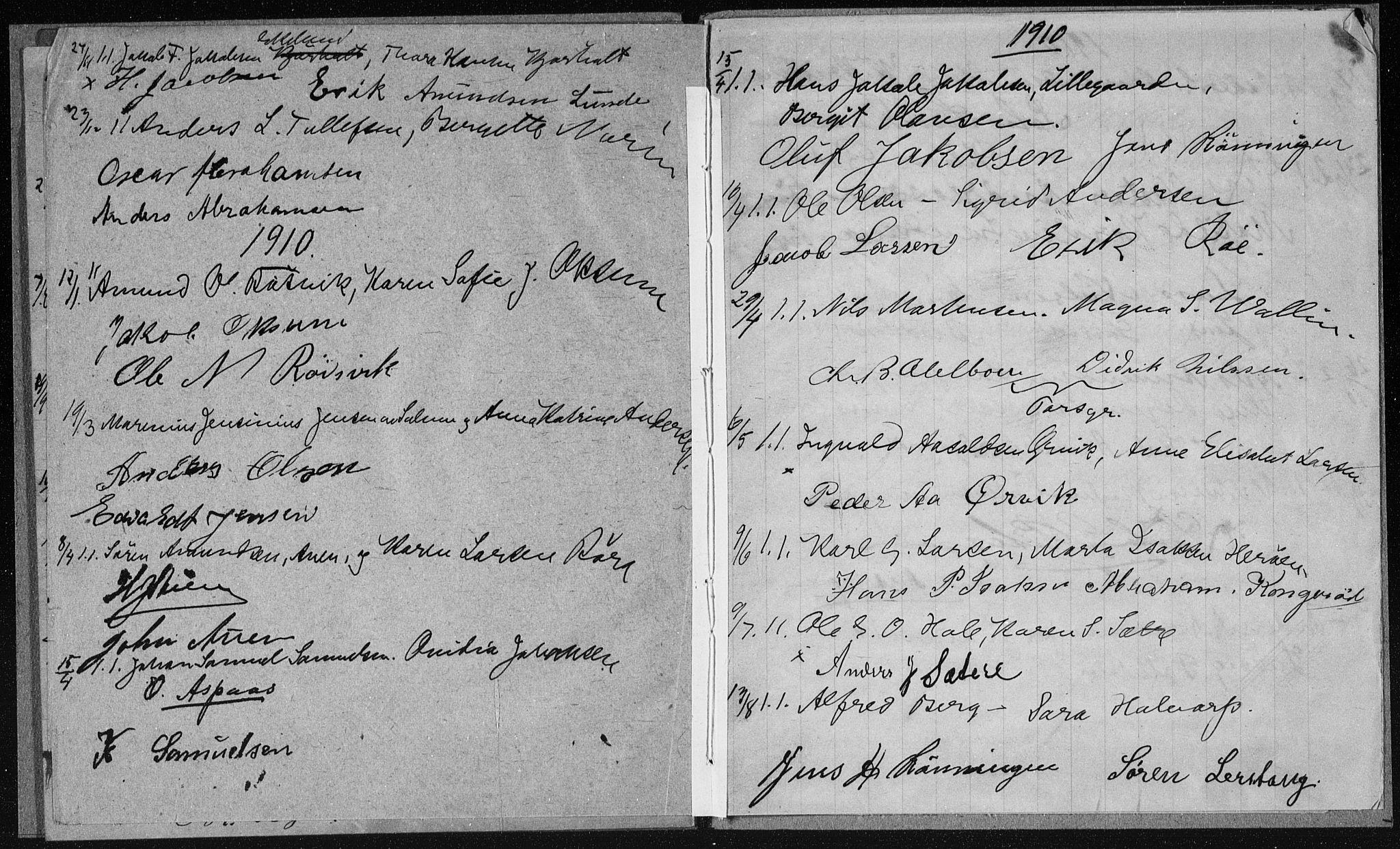 SAKO, Eidanger kirkebøker, H/Ha/L0002: Lysningsprotokoll nr. 2, 1904-1912