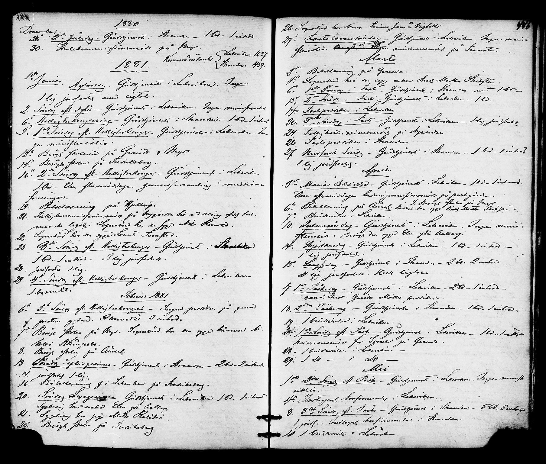 SAT, Ministerialprotokoller, klokkerbøker og fødselsregistre - Nord-Trøndelag, 701/L0009: Ministerialbok nr. 701A09 /1, 1864-1882, s. 446