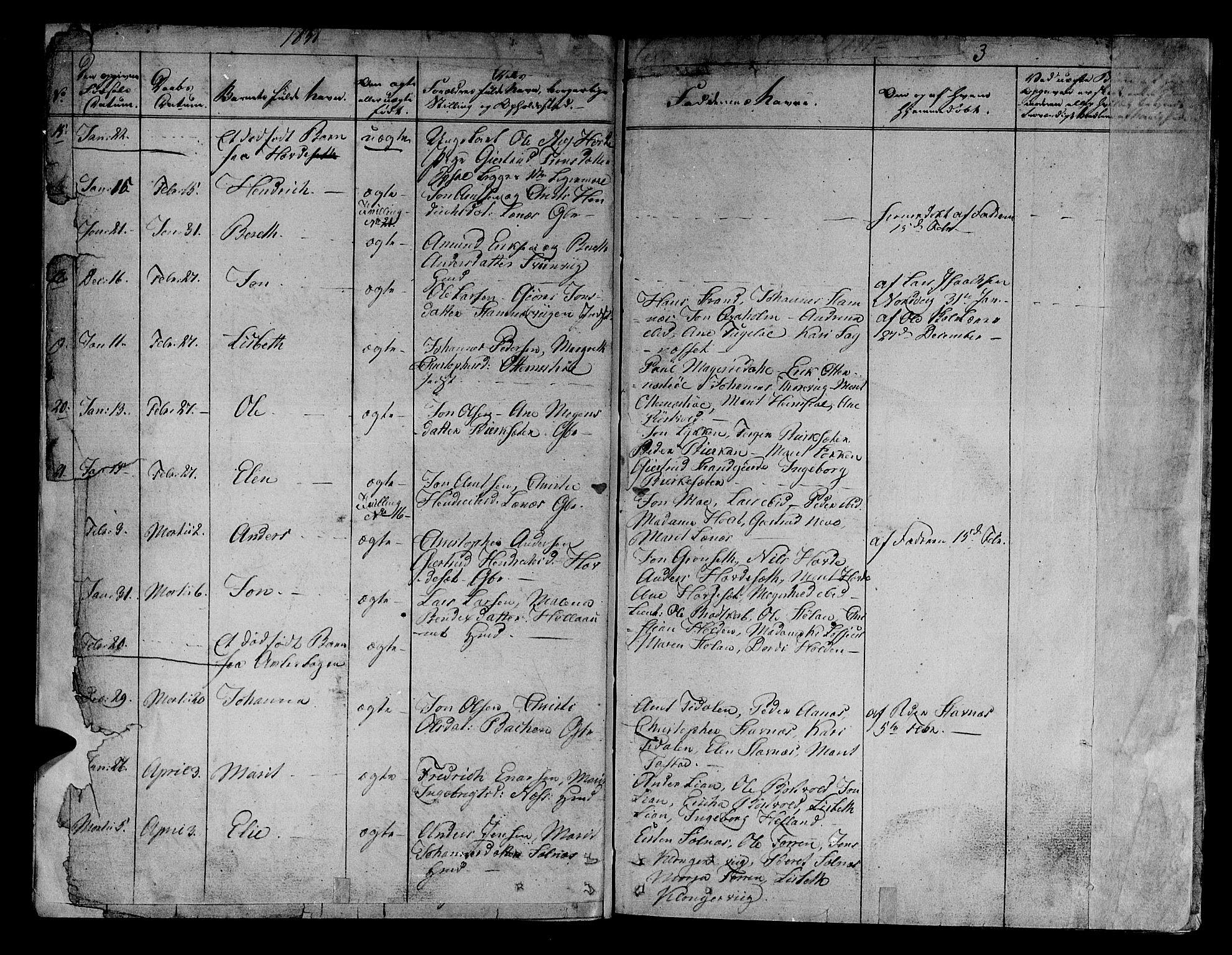 SAT, Ministerialprotokoller, klokkerbøker og fødselsregistre - Sør-Trøndelag, 630/L0492: Ministerialbok nr. 630A05, 1830-1840, s. 3