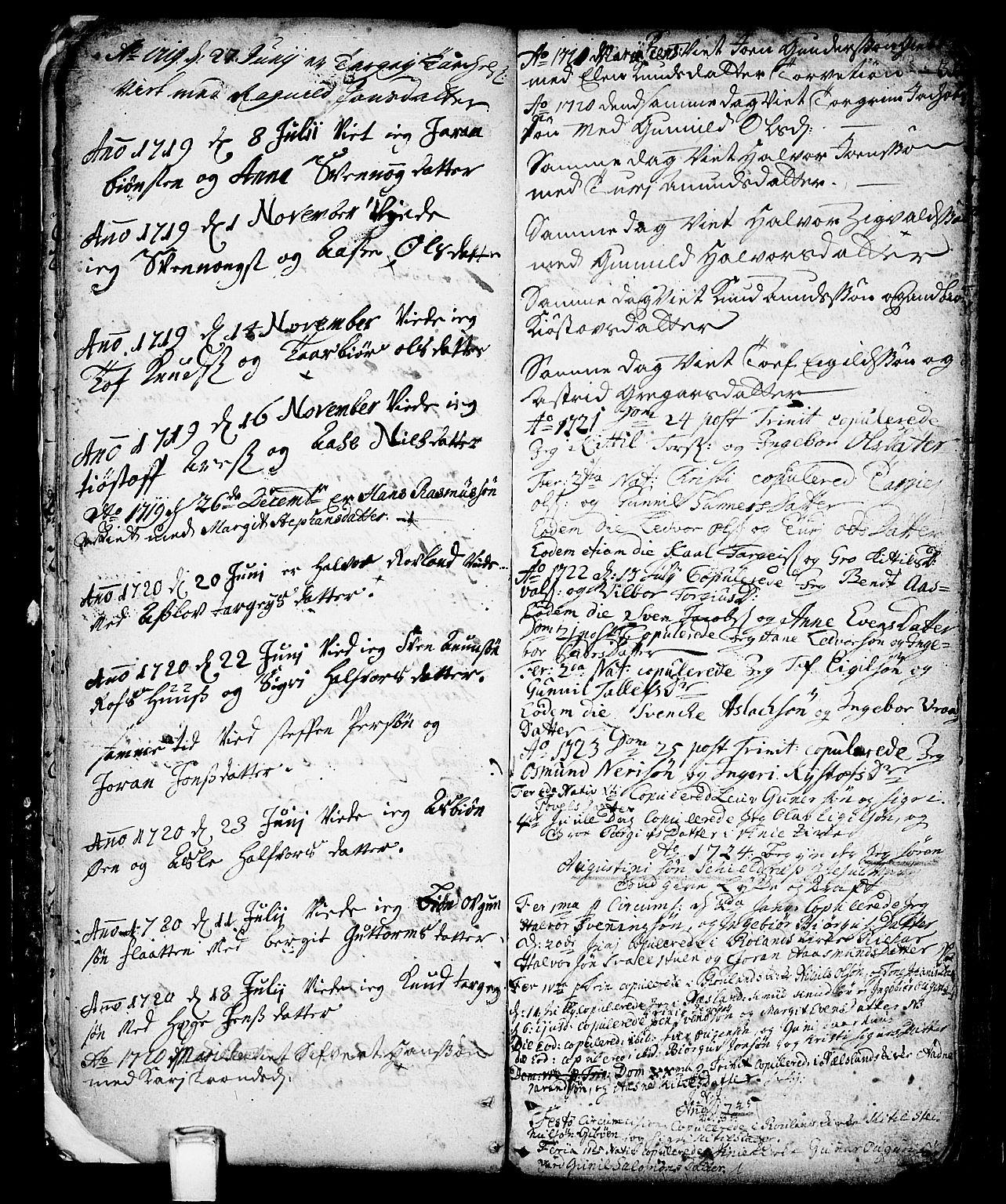 SAKO, Vinje kirkebøker, F/Fa/L0001: Ministerialbok nr. I 1, 1717-1766, s. 31