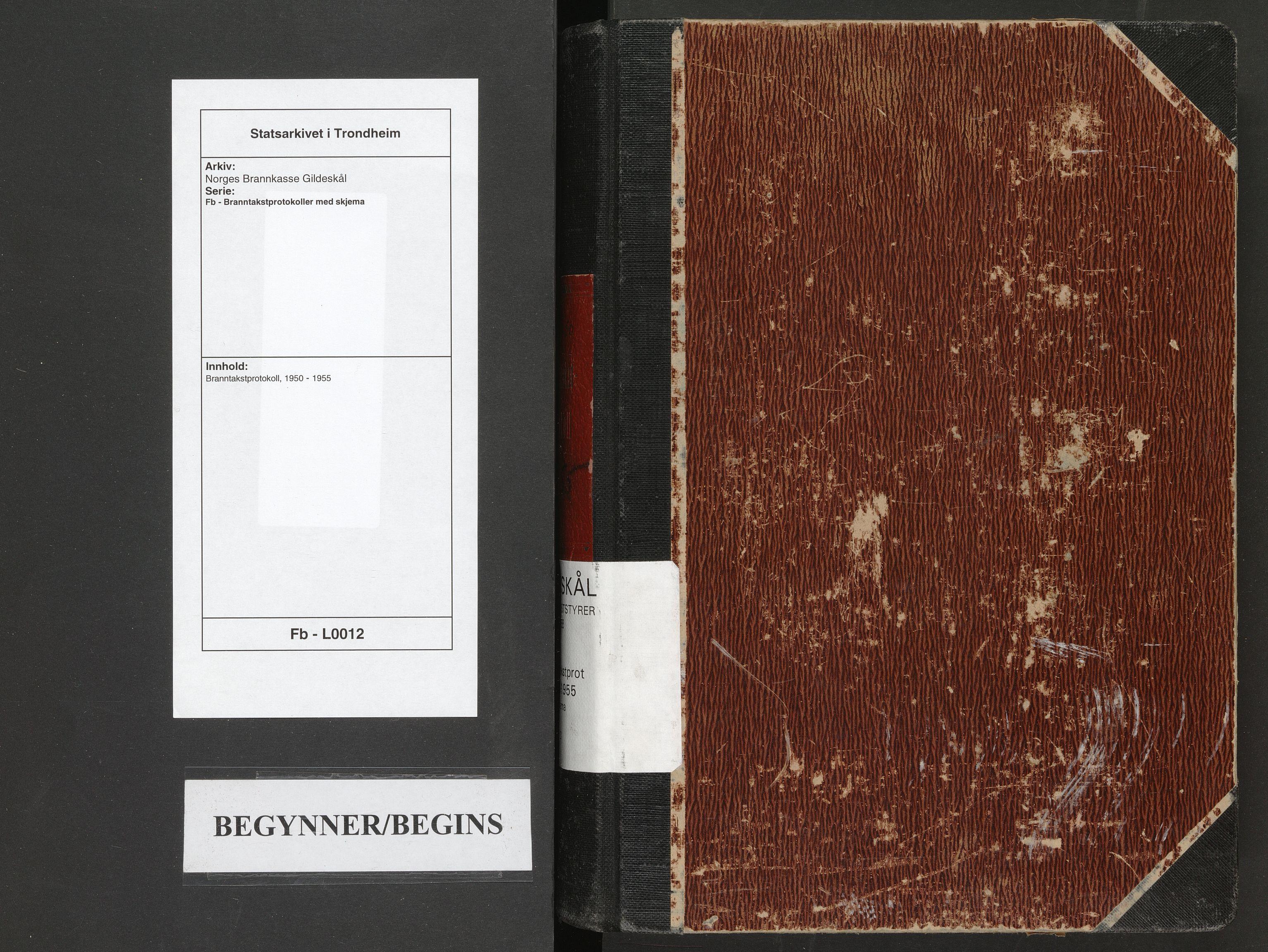 SAT, Norges Brannkasse Gildeskål, Fb/L0012: Branntakstprotokoll, 1950-1955
