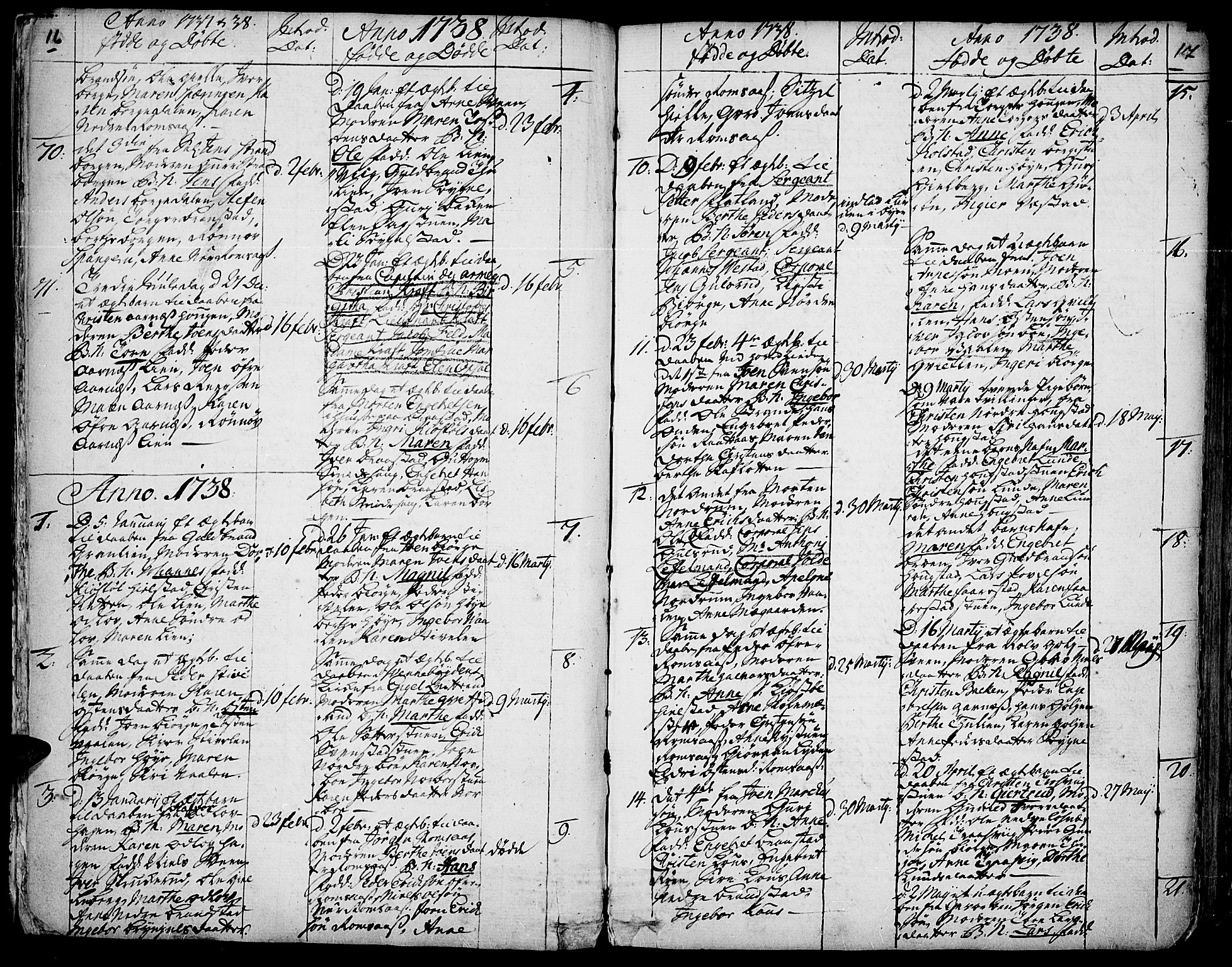 SAH, Ringebu prestekontor, Ministerialbok nr. 2, 1734-1780, s. 16-17