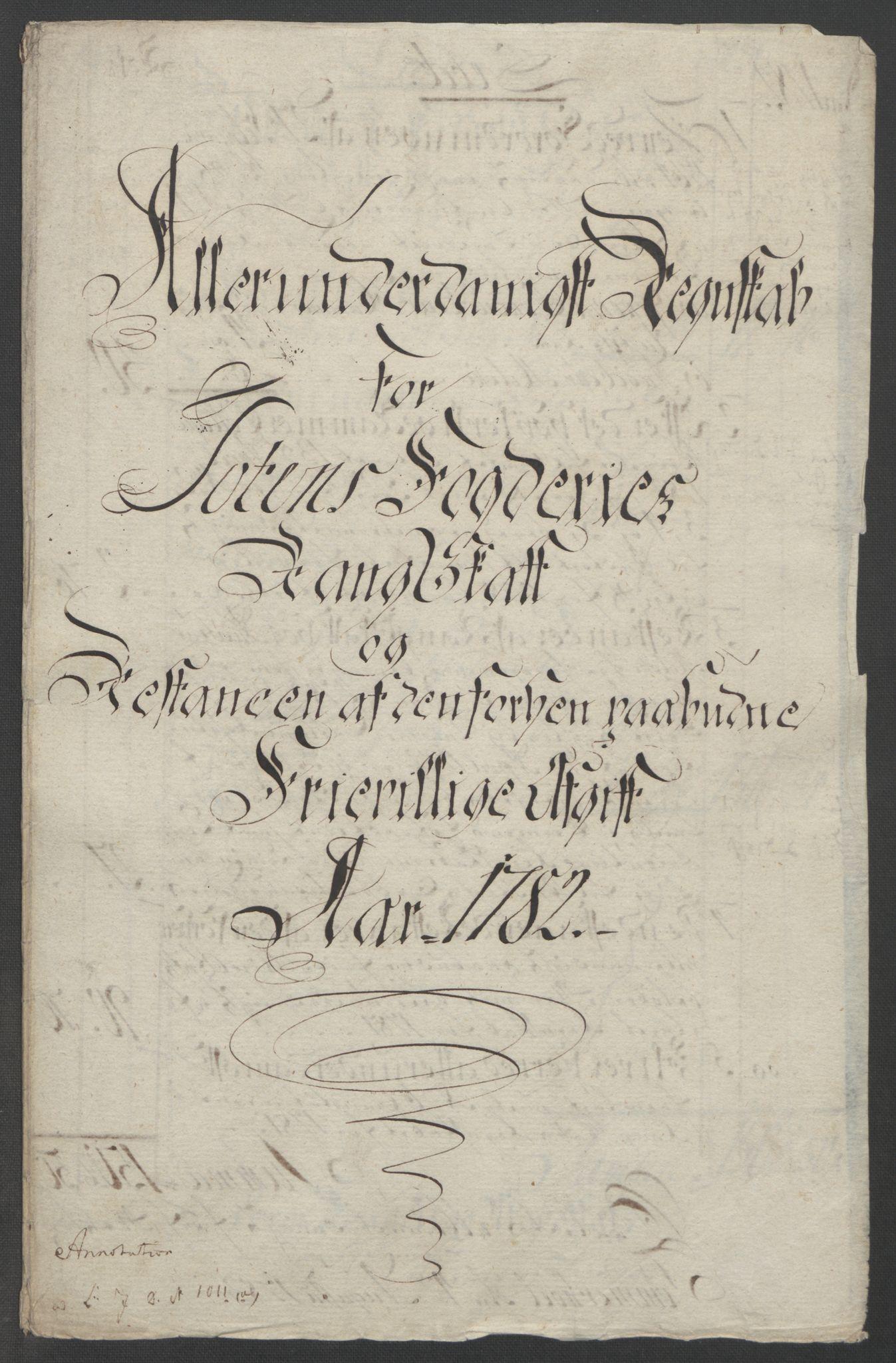 RA, Rentekammeret inntil 1814, Reviderte regnskaper, Fogderegnskap, R19/L1399: Fogderegnskap Toten, Hadeland og Vardal, 1762-1783, s. 542