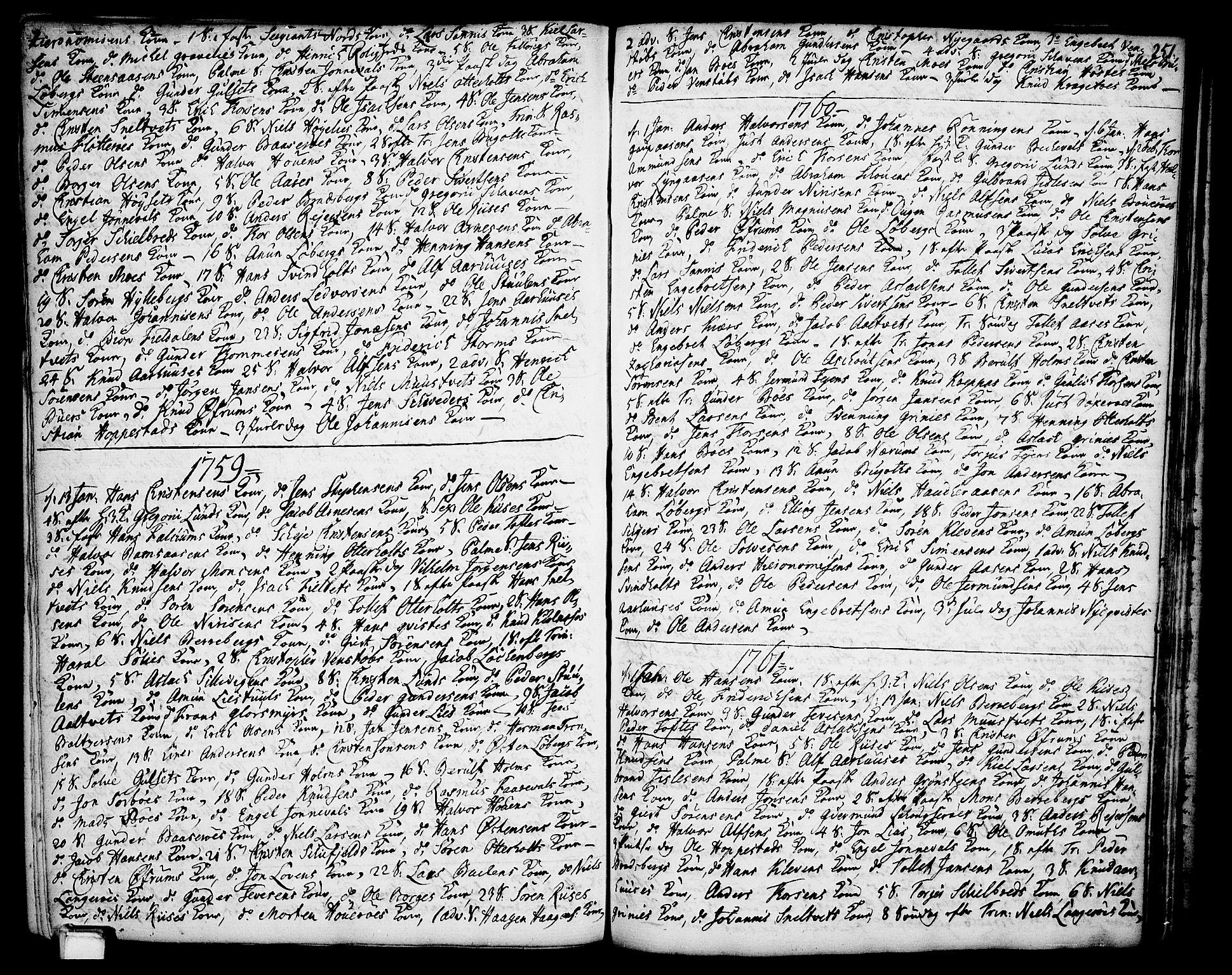 SAKO, Gjerpen kirkebøker, F/Fa/L0002: Ministerialbok nr. 2, 1747-1795, s. 251