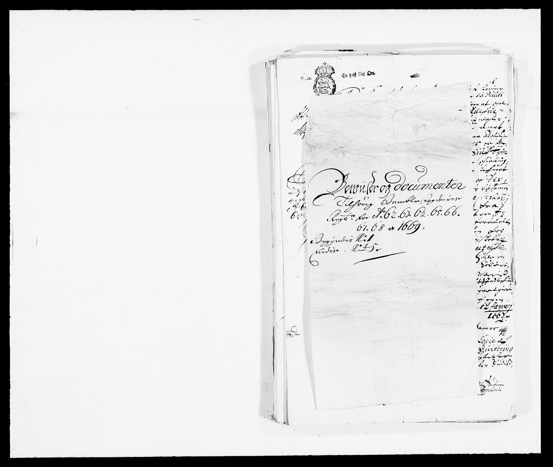 RA, Rentekammeret inntil 1814, Reviderte regnskaper, Fogderegnskap, R34/L2037: Fogderegnskap Bamble, 1662-1669, s. 116