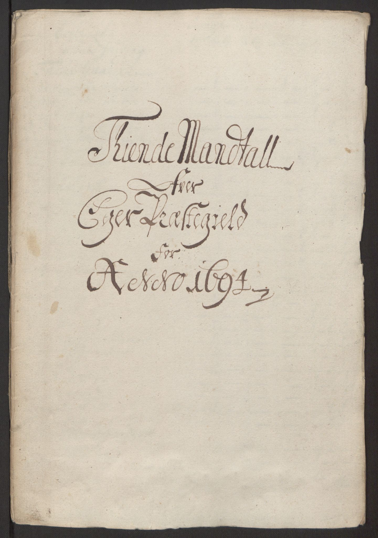 RA, Rentekammeret inntil 1814, Reviderte regnskaper, Fogderegnskap, R30/L1694: Fogderegnskap Hurum, Røyken, Eiker og Lier, 1694-1696, s. 19