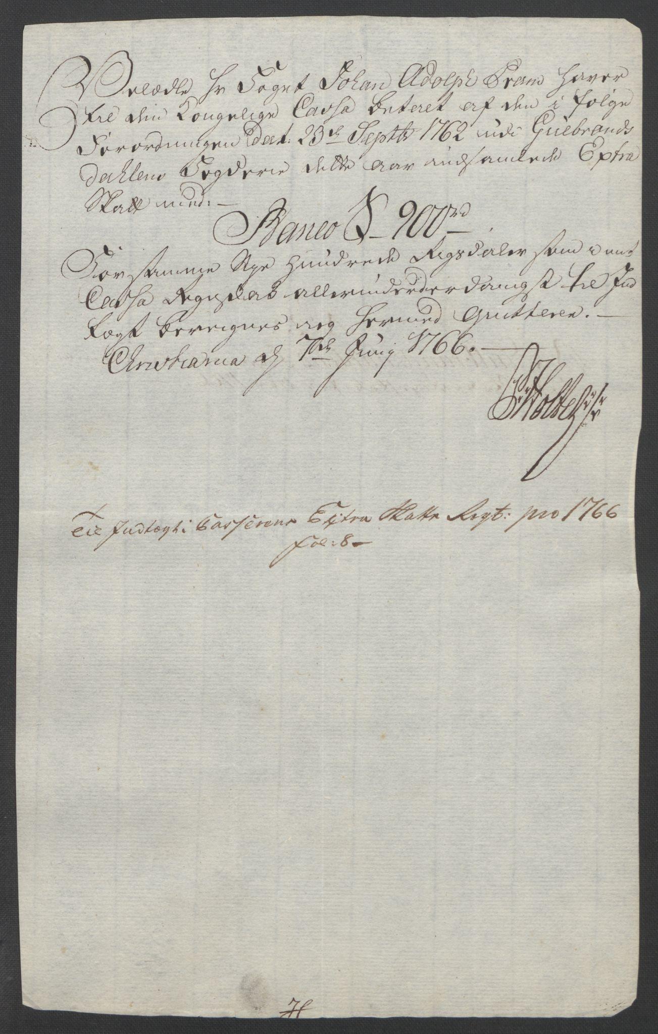 RA, Rentekammeret inntil 1814, Reviderte regnskaper, Fogderegnskap, R17/L1266: Ekstraskatten Gudbrandsdal, 1762-1766, s. 604