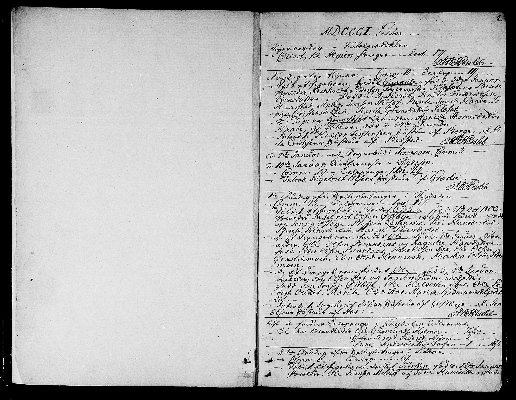SAT, Ministerialprotokoller, klokkerbøker og fødselsregistre - Sør-Trøndelag, 695/L1140: Ministerialbok nr. 695A03, 1801-1815, s. 2