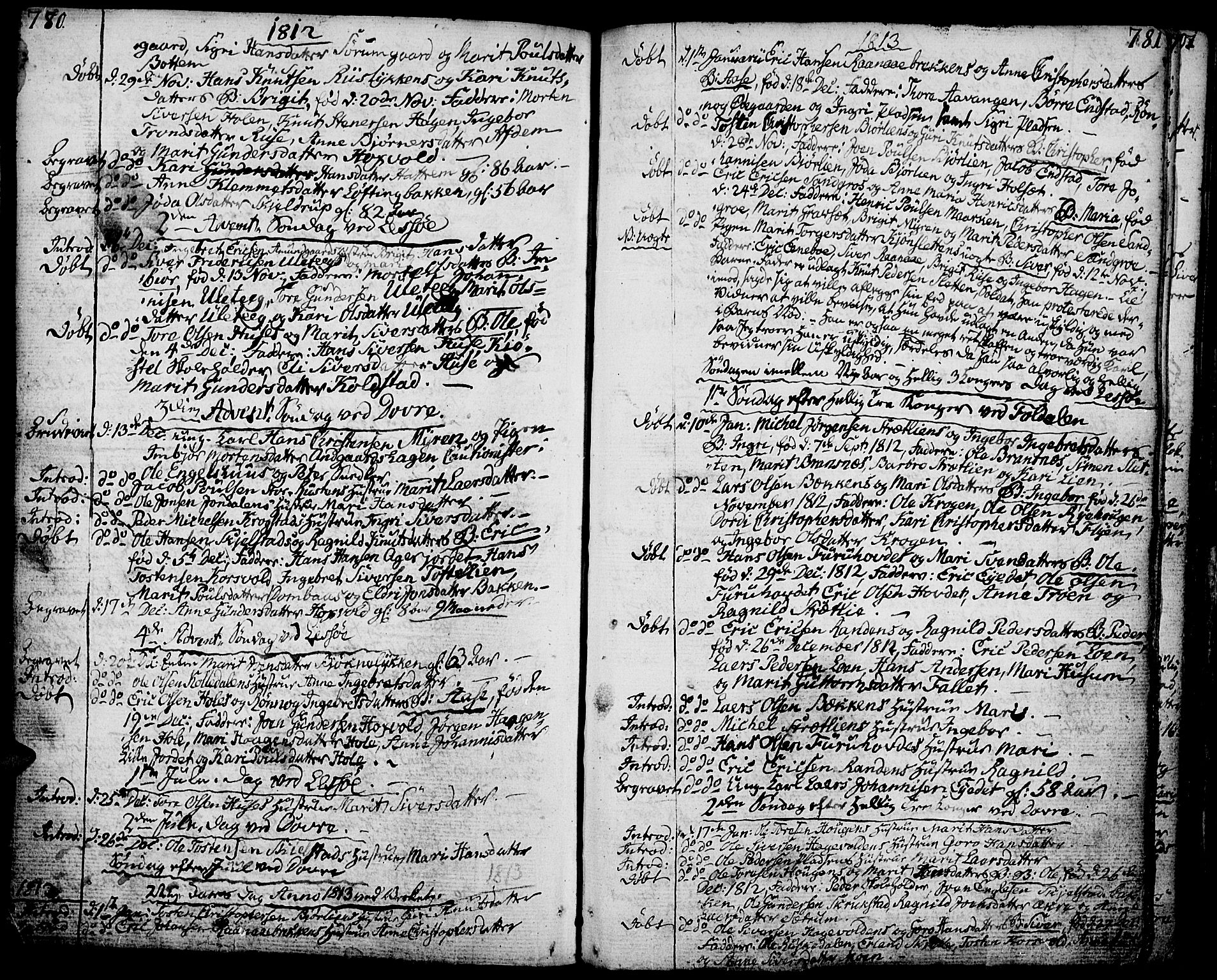 SAH, Lesja prestekontor, Ministerialbok nr. 3, 1777-1819, s. 780-781