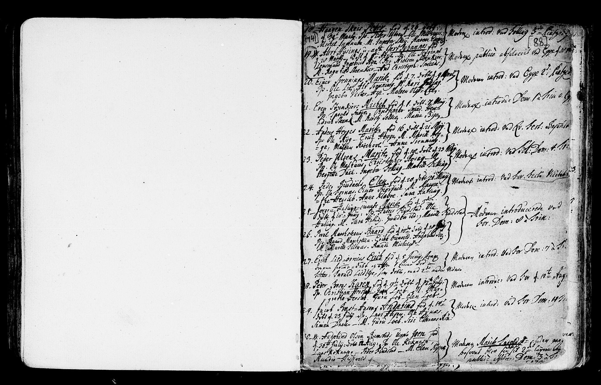 SAT, Ministerialprotokoller, klokkerbøker og fødselsregistre - Nord-Trøndelag, 746/L0439: Ministerialbok nr. 746A01, 1688-1759, s. 88a